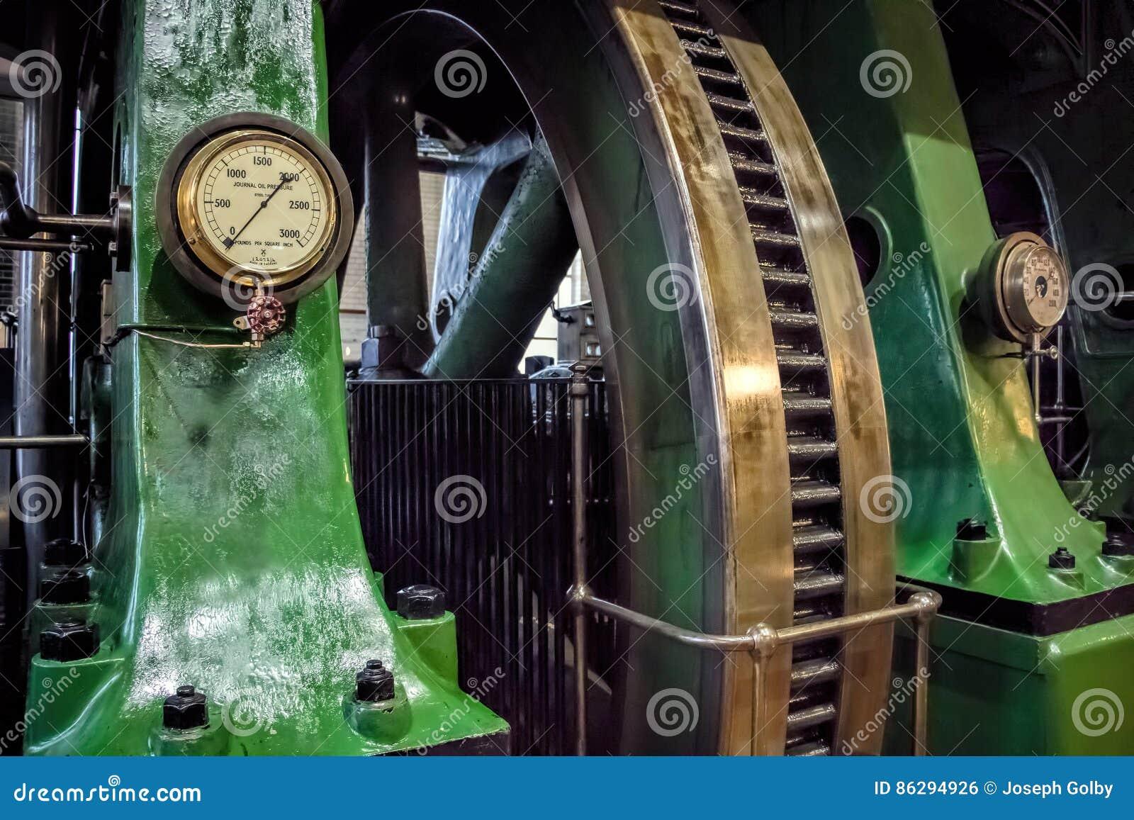 Βιομηχανική ρόδα μυγών μηχανών ατμού