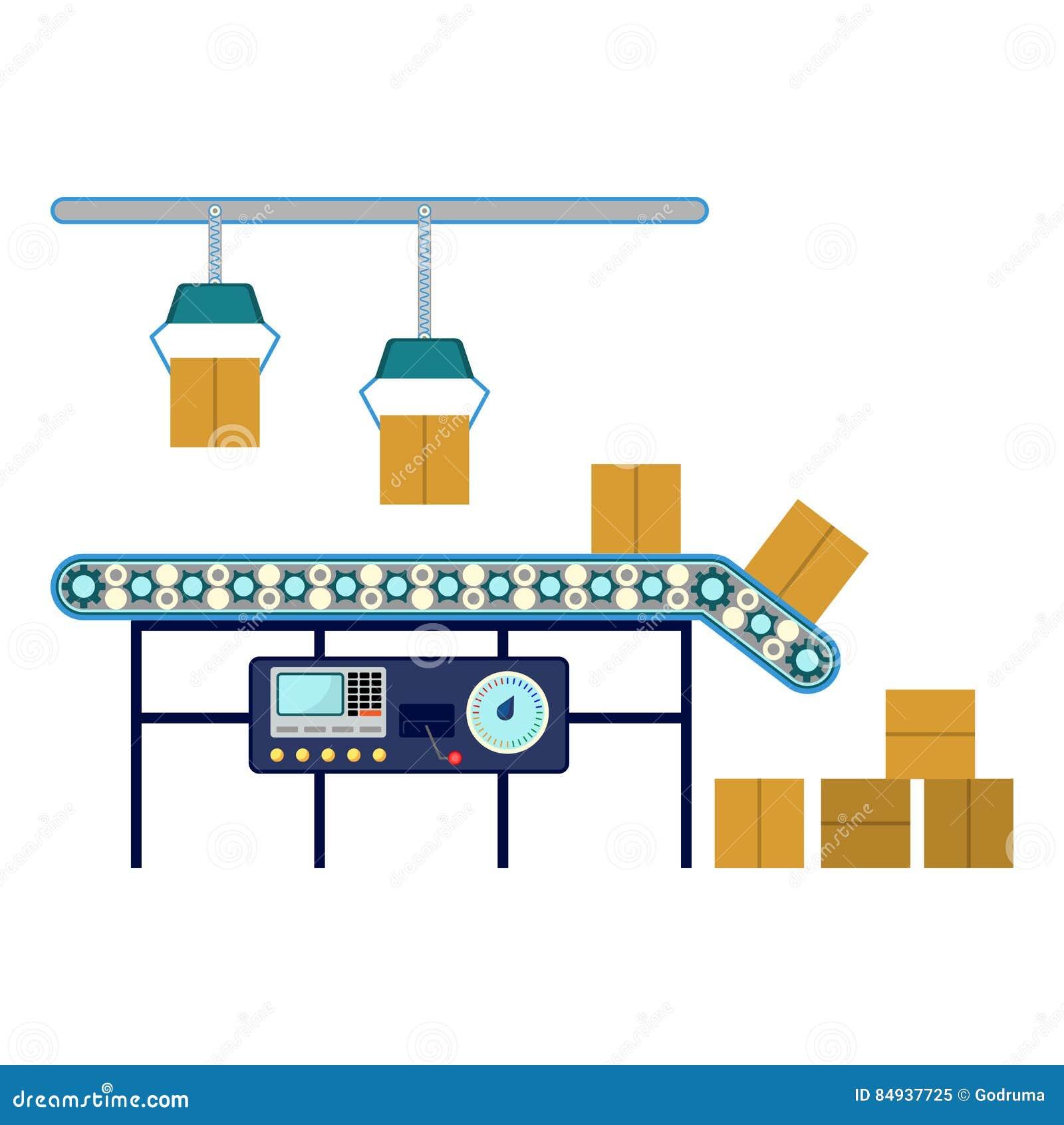 Βιομηχανικός εξοπλισμός για τα κιβώτια, μεταφορέας συνελεύσεων γραμμών μηχανημάτων