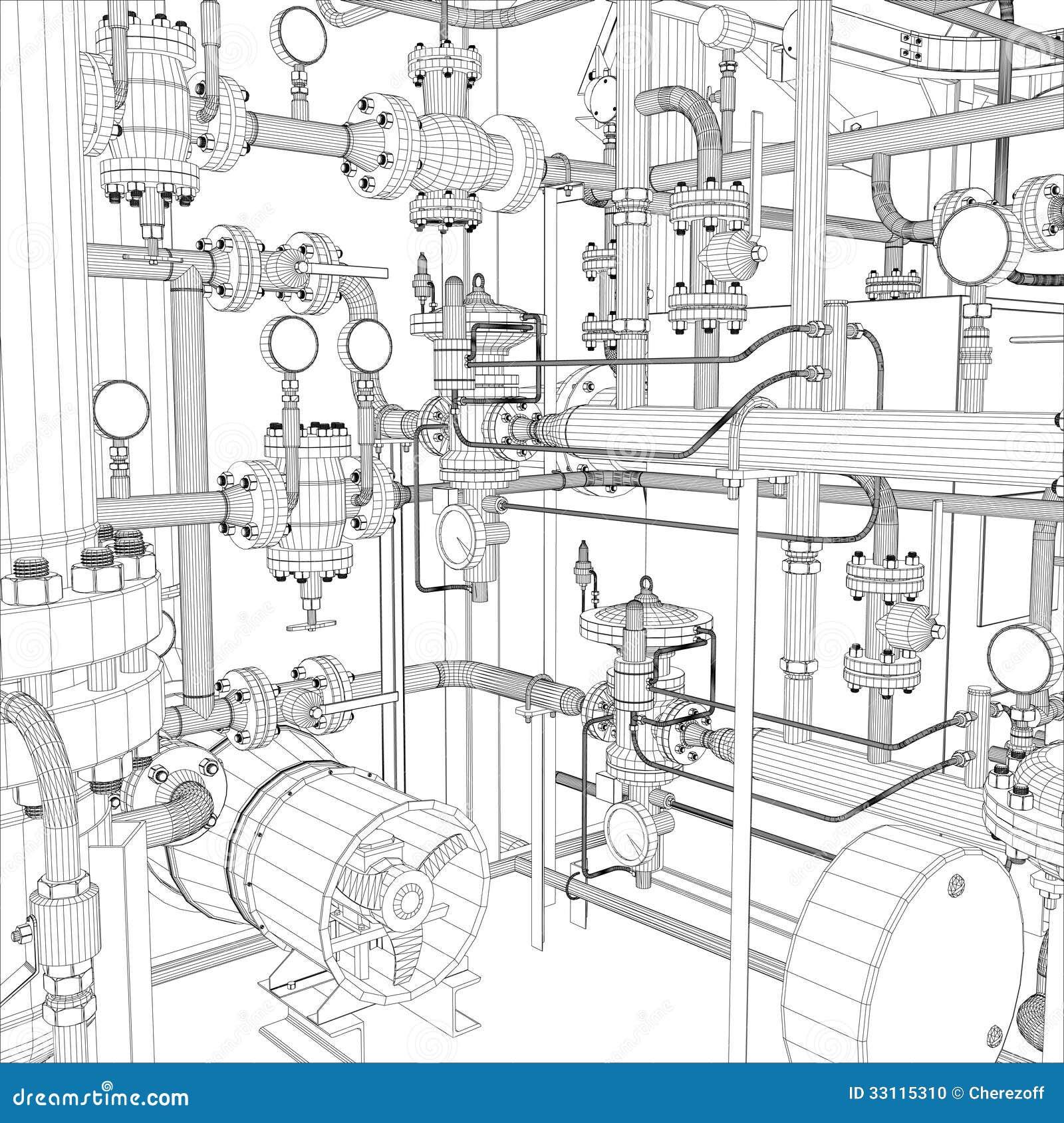 Βιομηχανικός εξοπλισμός. Καλώδιο-πλαίσιο