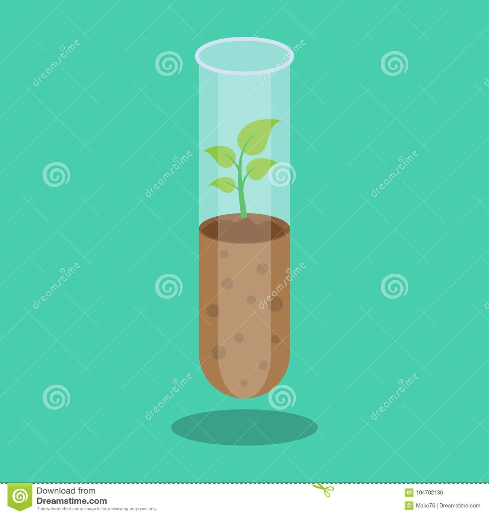 βιόκοσμου Εργαστηριακά γυαλικά με το χώμα και τις εγκαταστάσεις