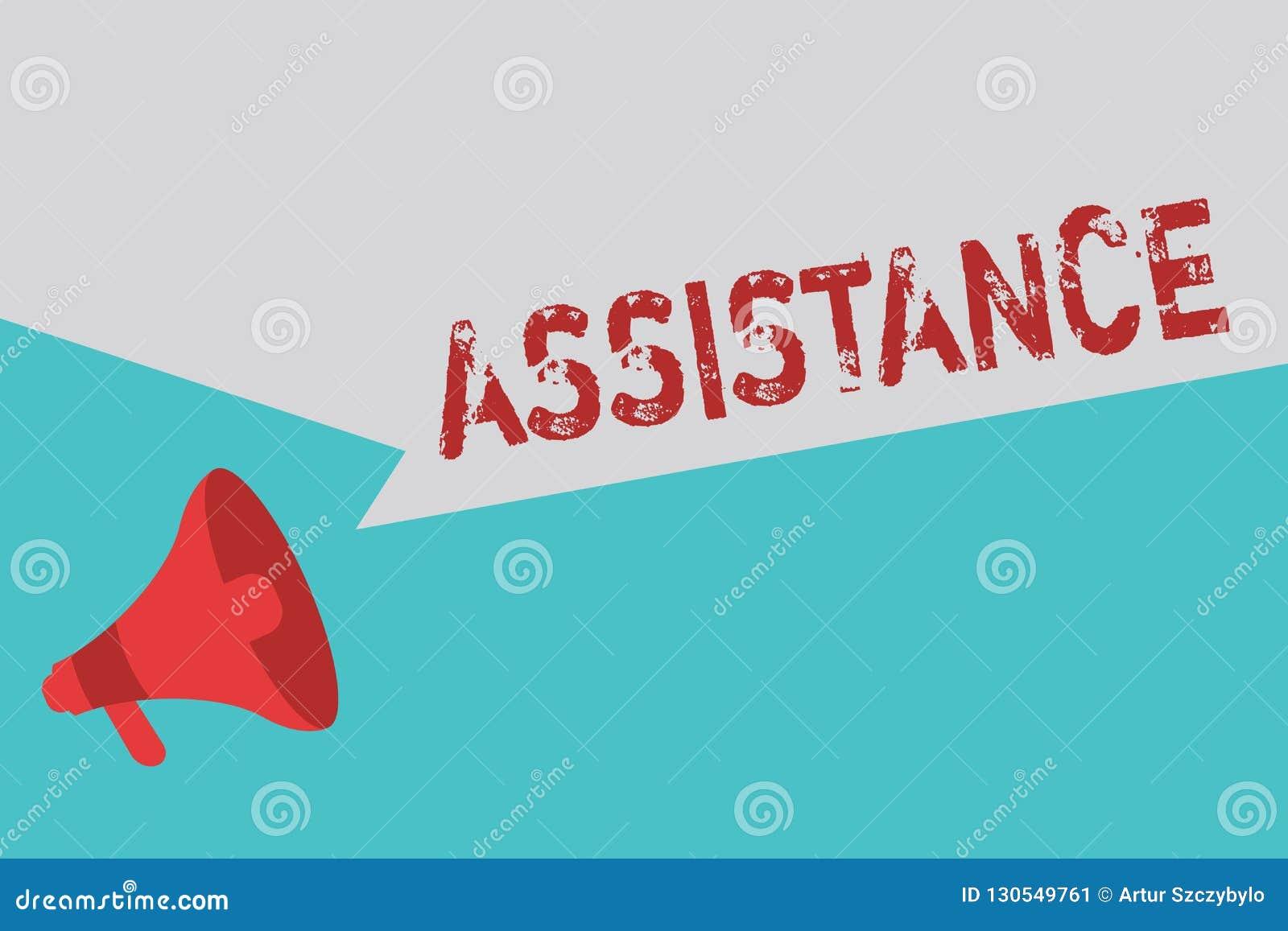 Βοήθεια κειμένων γραψίματος λέξης Επιχειρησιακή έννοια για τη βοήθεια κάποιου που μοιράζεται την εργασία να δώσει την ενίσχυση υπ