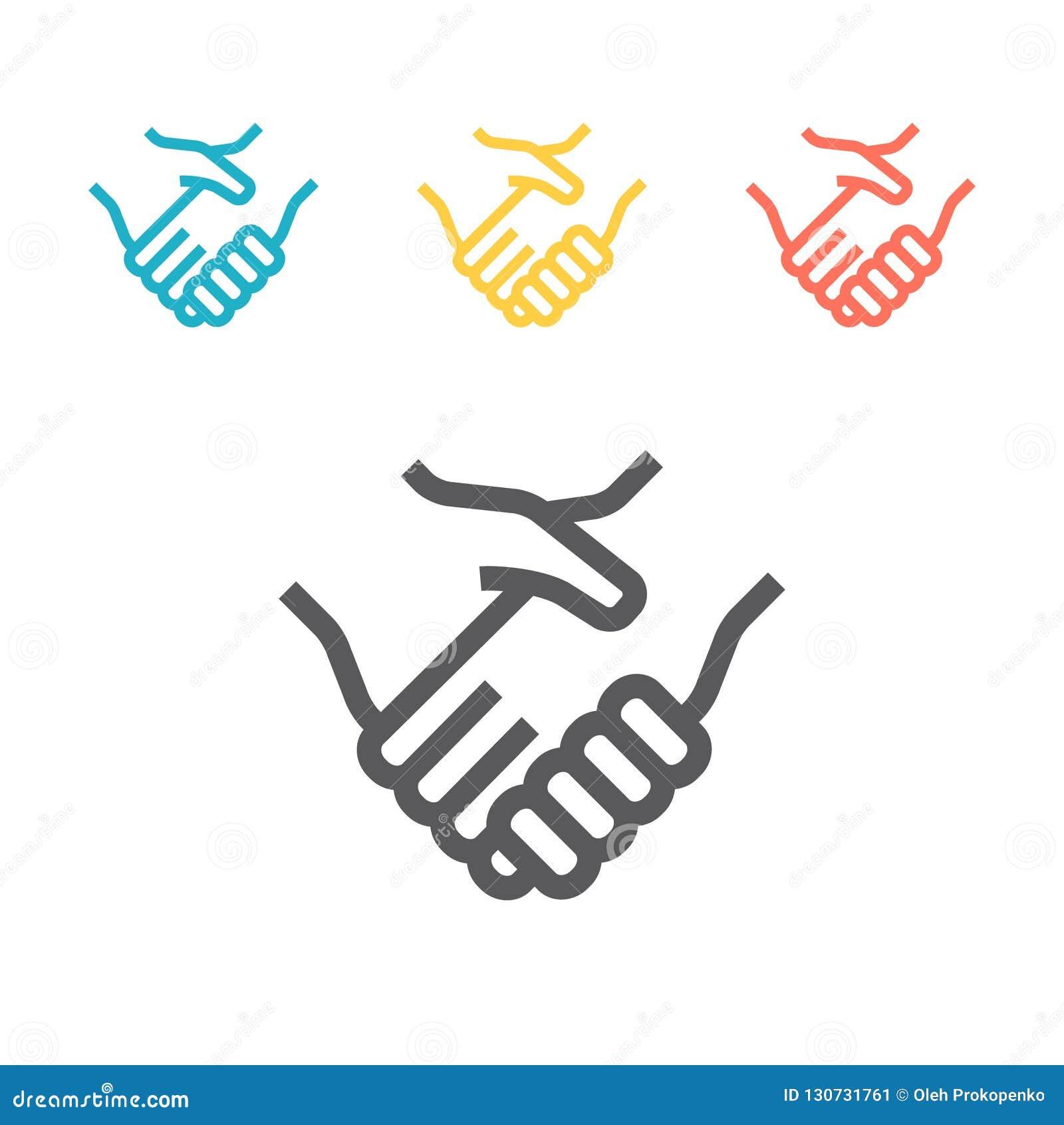 βοήθεια χεριών διανυσματικό εικονίδιο τέχνης γραμμών συμφωνητικού σύμβασης για τα apps και τους ιστοχώρους