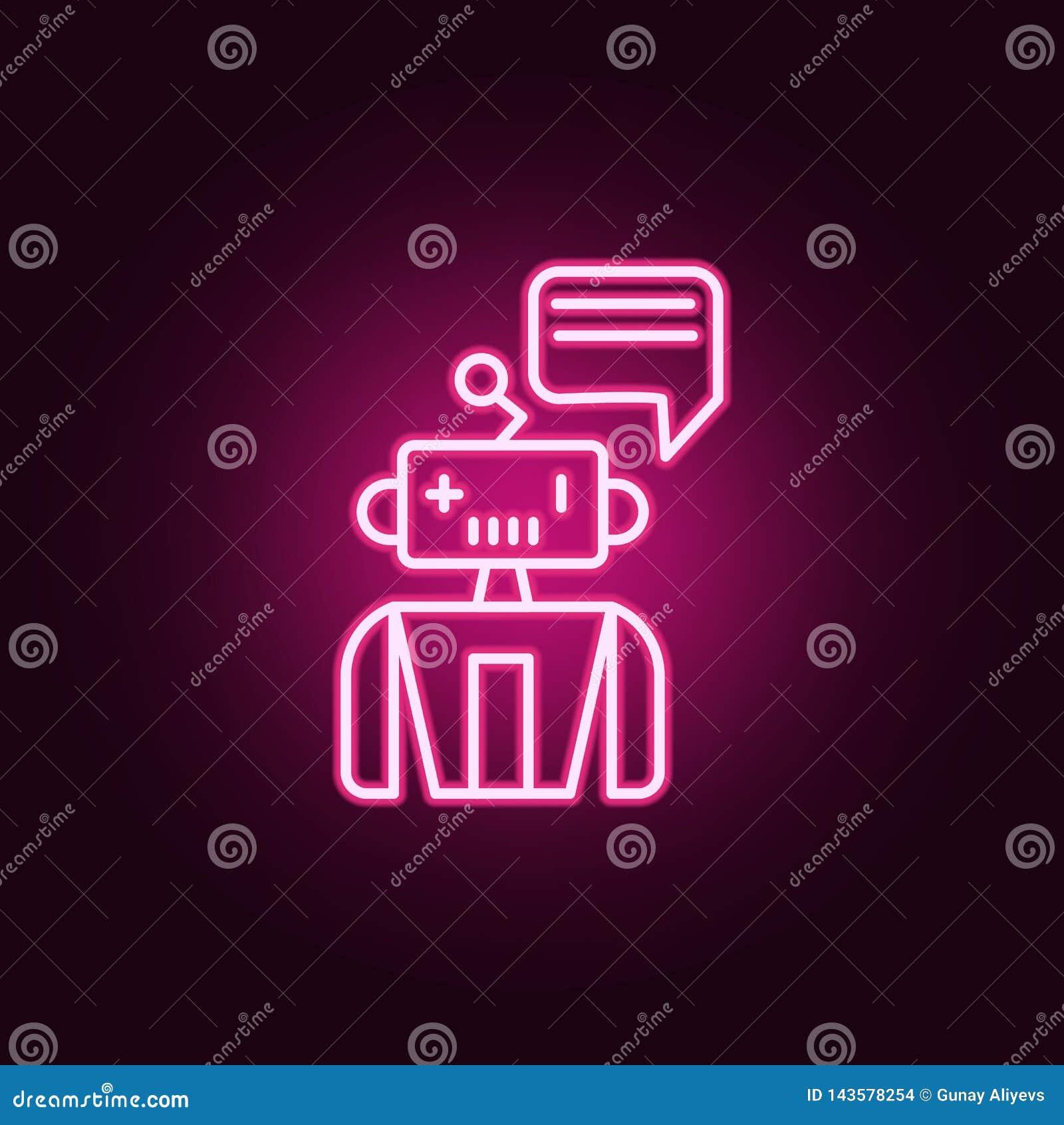 Βοηθητικό εικονίδιο νέου μηχανών ρομπότ Στοιχεία του συνόλου τεχνητής νοημοσύνης Απλό εικονίδιο για τους ιστοχώρους, σχέδιο Ιστού