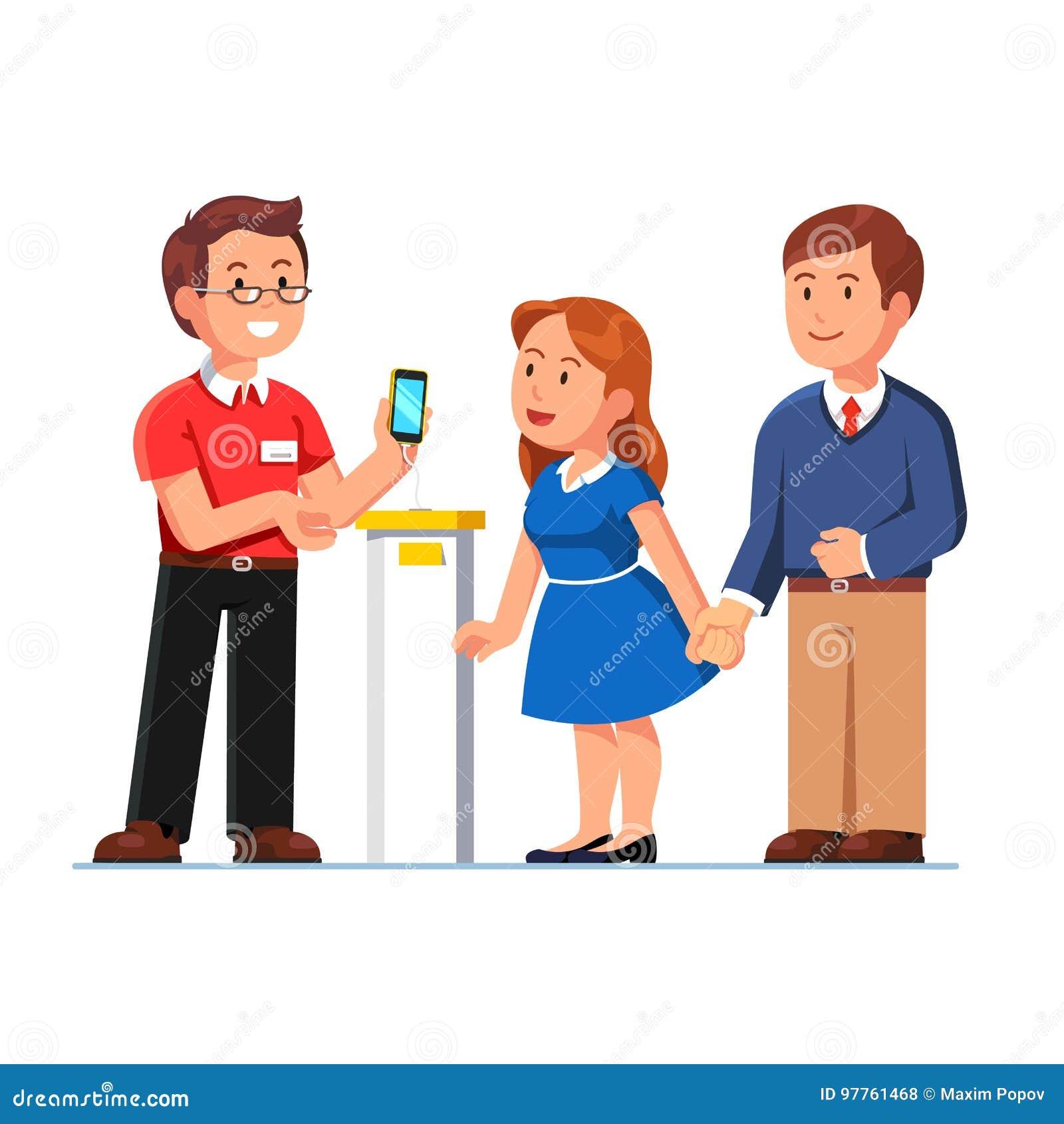 Βοηθητικό smartphone παρουσίασης καταστημάτων στους πελάτες
