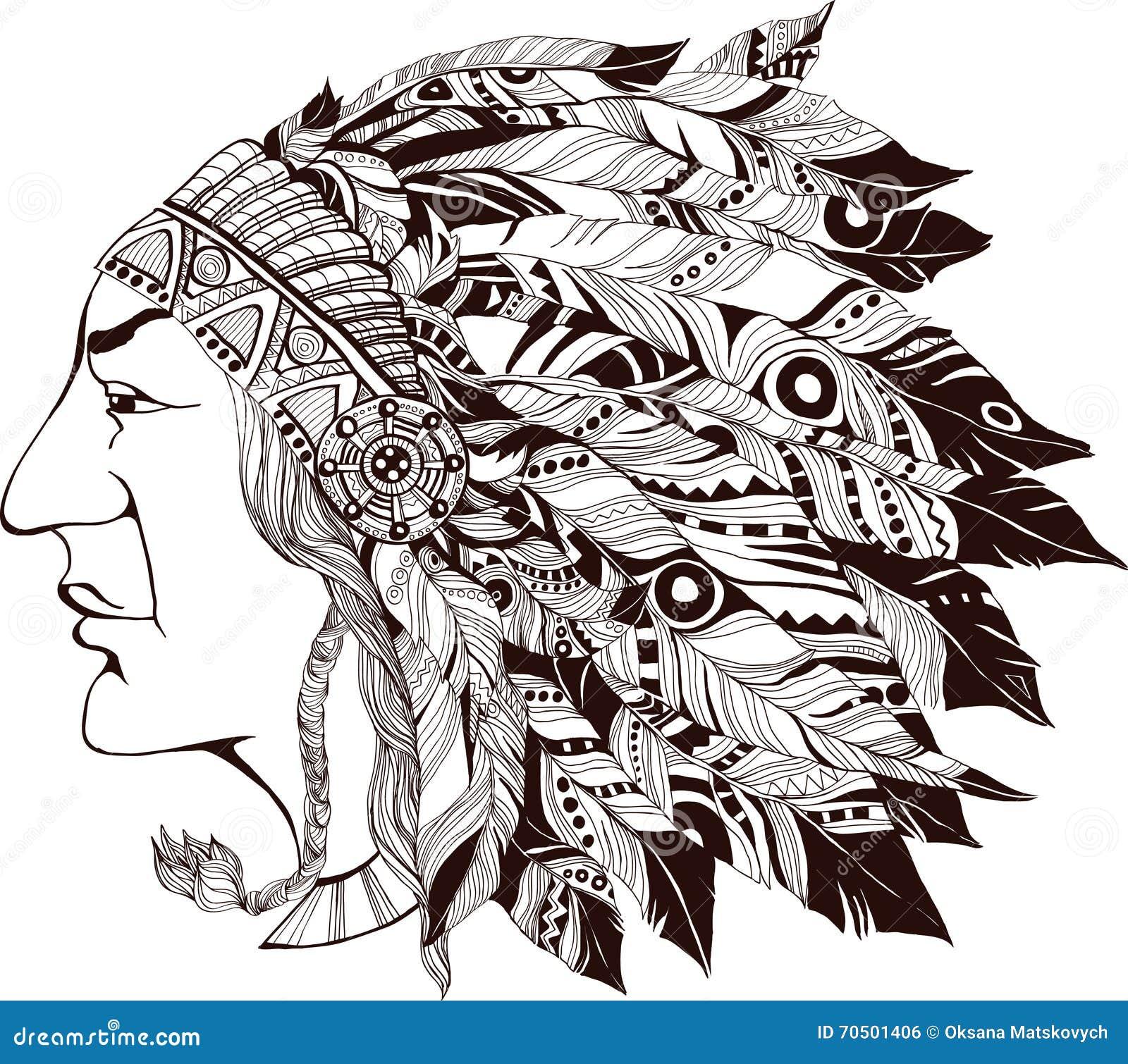 Βορειοαμερικανικός ινδικός προϊστάμενος - απεικόνιση
