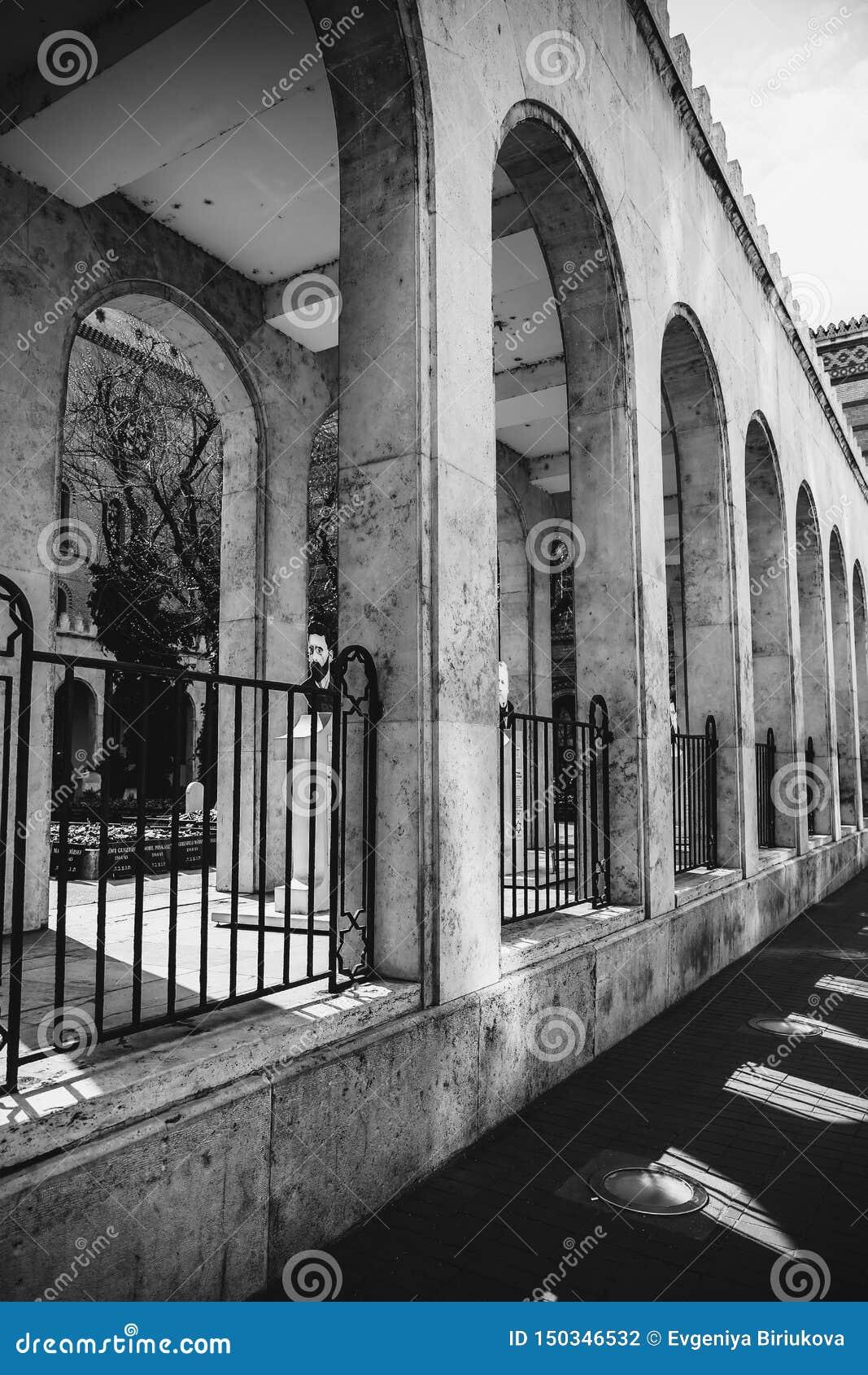 ΒΟΥΔΑΠΕΣΤΗ, ΟΥΓΓΑΡΙΑ 30 Μαρτίου 2017, γραπτές λεπτομέρειες αρχιτεκτονικής φωτογραφιών της συναγωγής της Βουδαπέστης, συναγωγή Doh