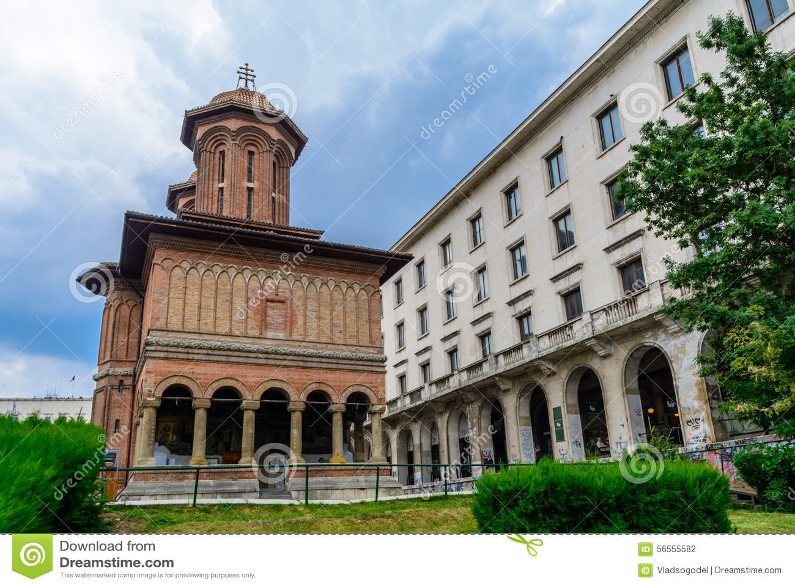 Download ΒΟΥΚΟΥΡΕΣΤΙ, ΡΟΥΜΑΝΙΑ - 28 ΙΟΥΝΊΟΥ: Εκκλησία Kretzulescu στις 28 Ιουνίου 2015 στο Βουκουρέστι, Ρουμανία Η εκκλησία χτίστηκε το 17 Στοκ Εικόνες - εικόνα από αγγλικά, χρώμα: 56555582
