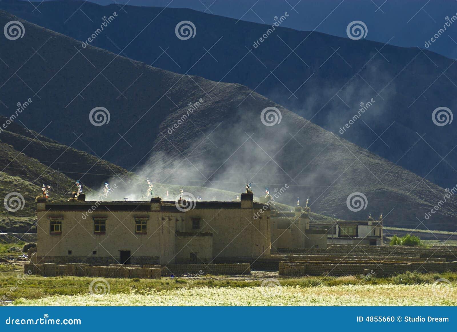 βουνά Θιβετιανός κτηρίων