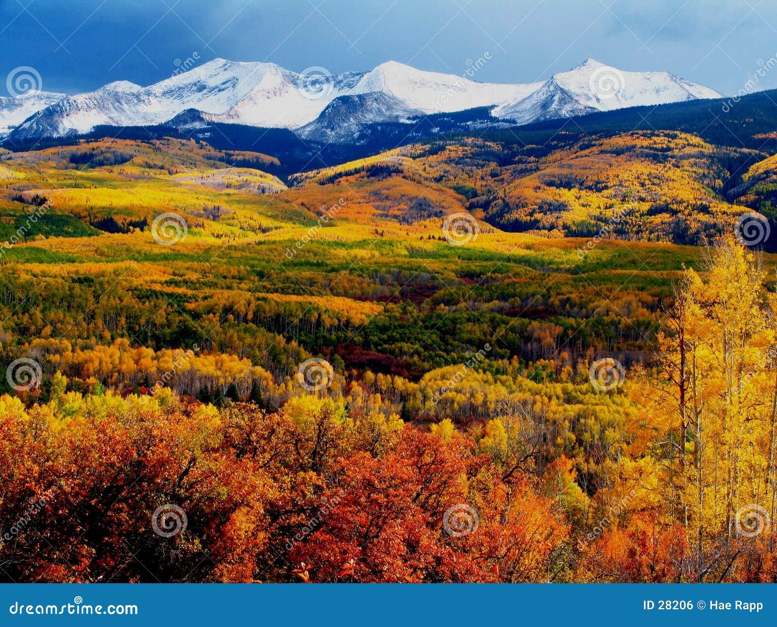 Download βουνά πτώσης στοκ εικόνες. εικόνα από χρώμα, φύλλωμα, πέρασμα - 28206