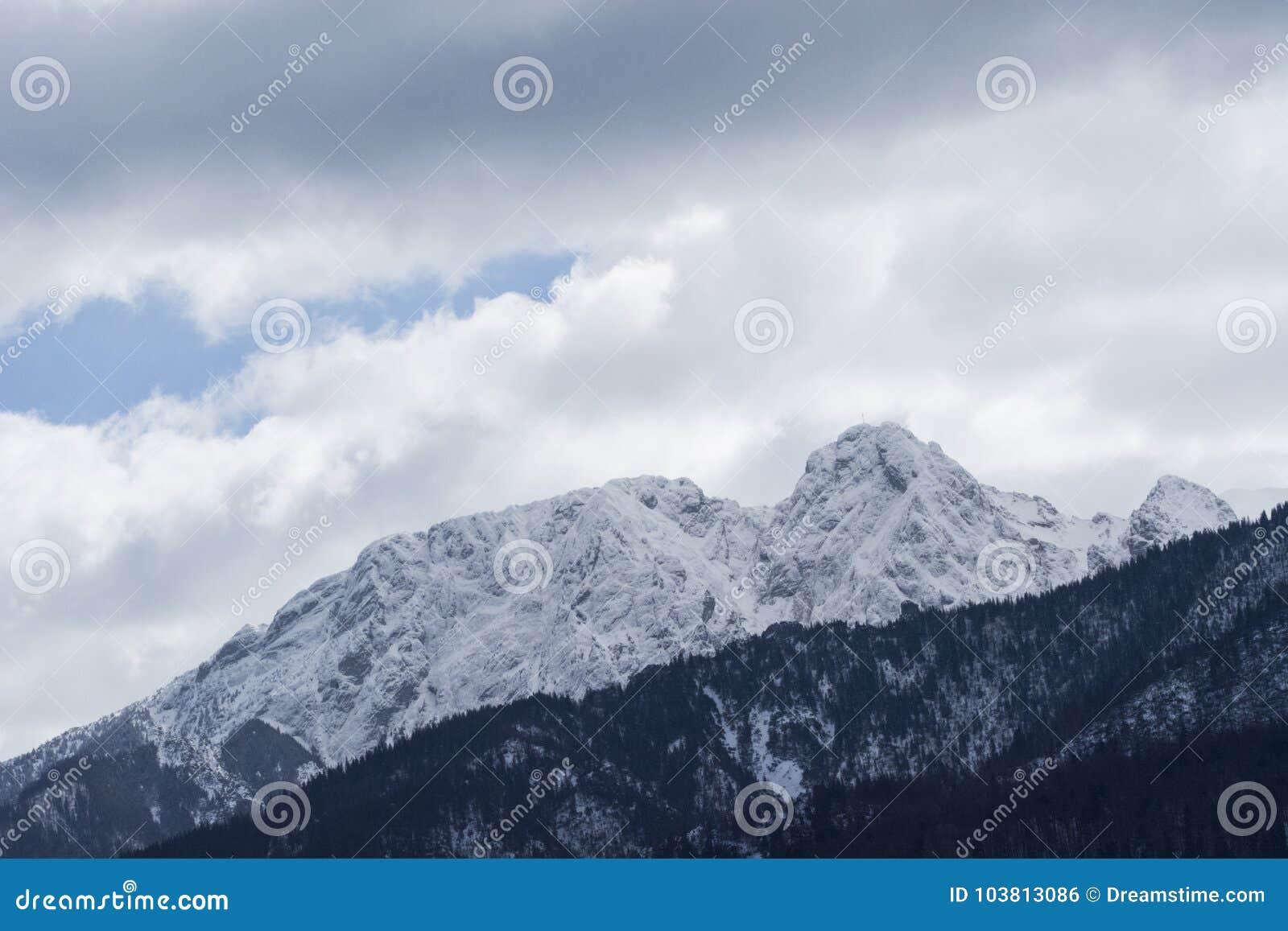 Βουνά τοπίων το χειμώνα Πολωνία