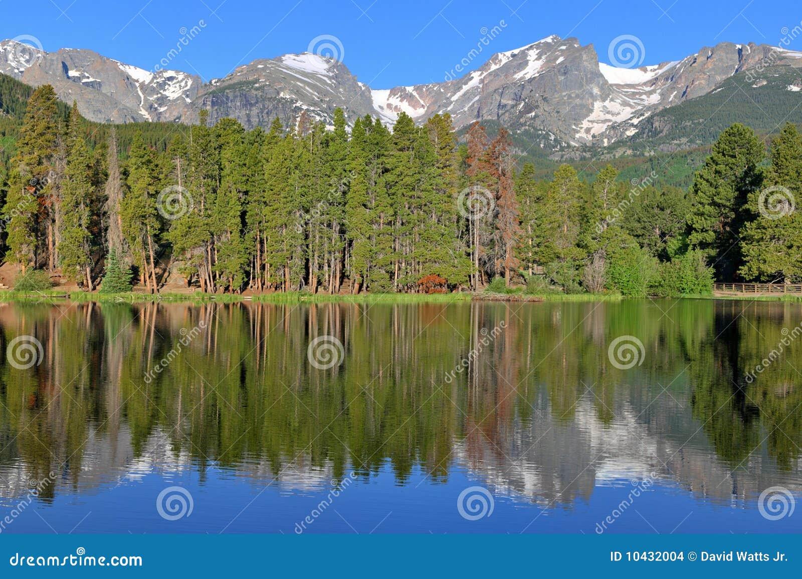 βουνό λιμνών καθαρό