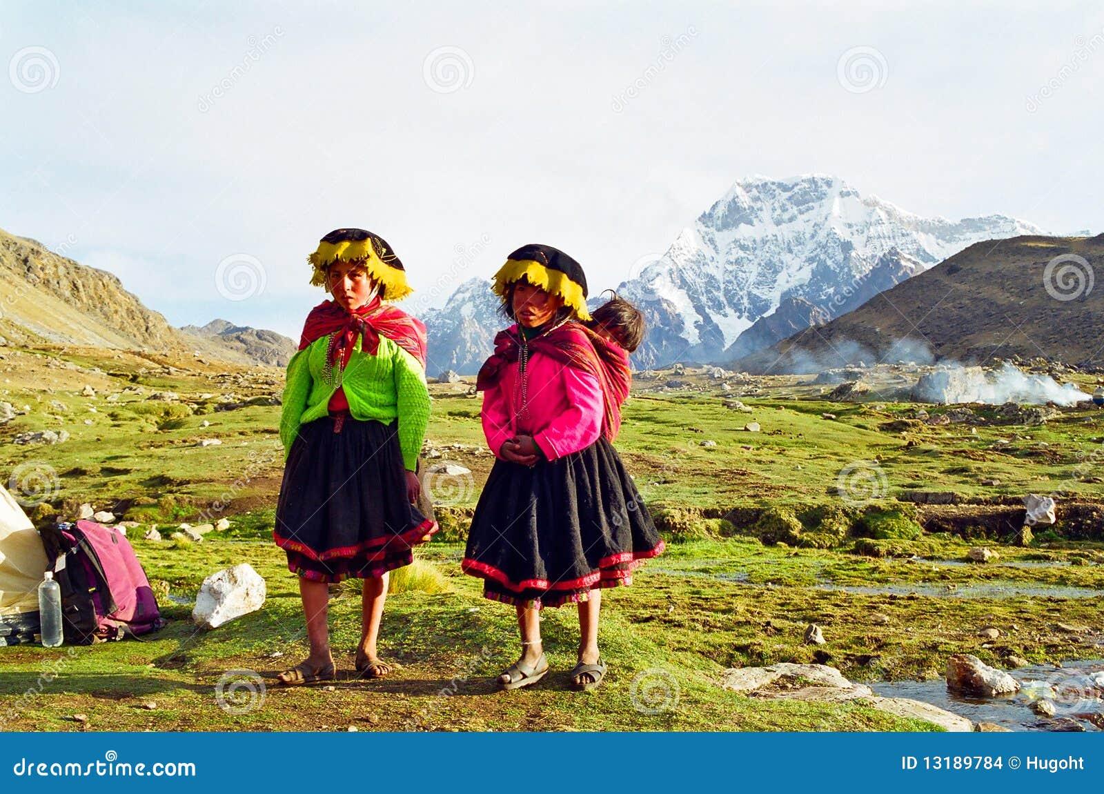 βουνό Περού παιδιών