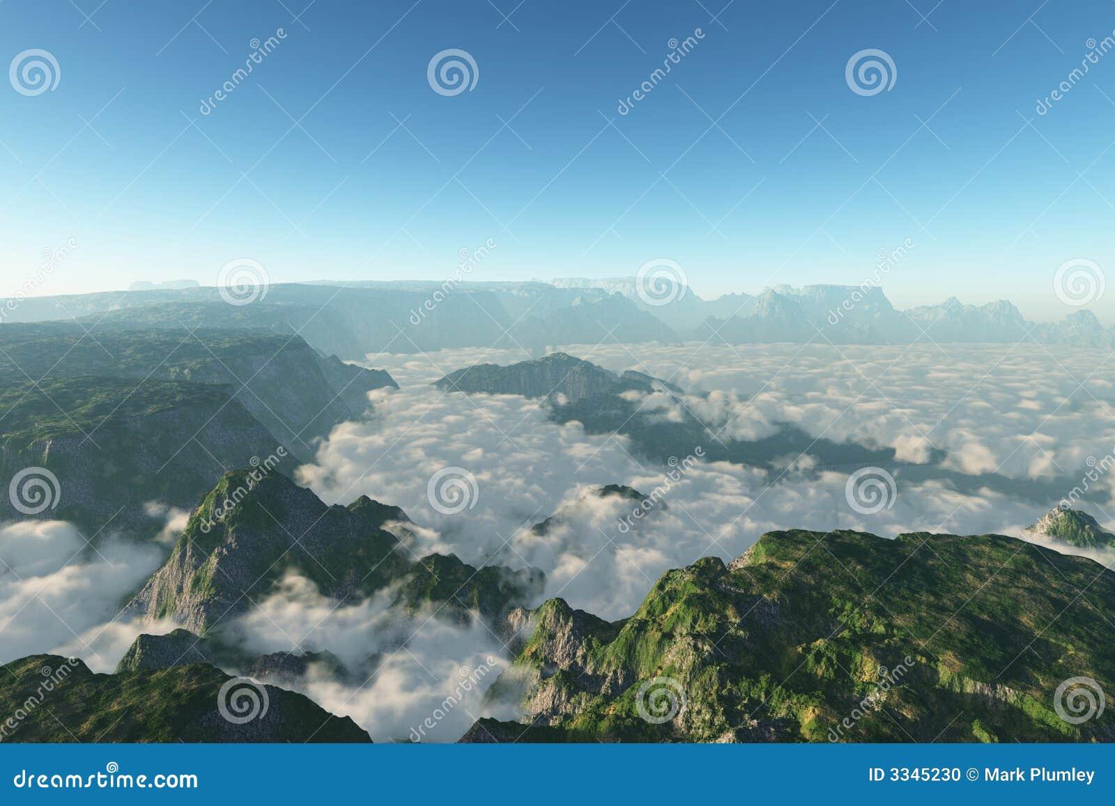 βουνό σύννεφων