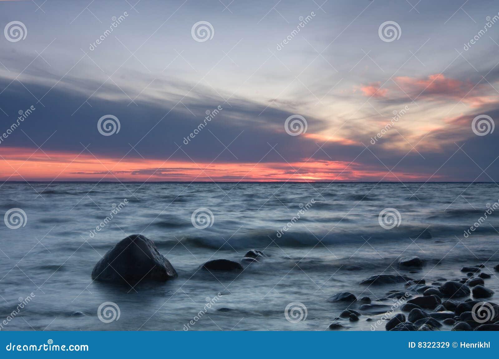 βράδυ σουηδικά ακτών