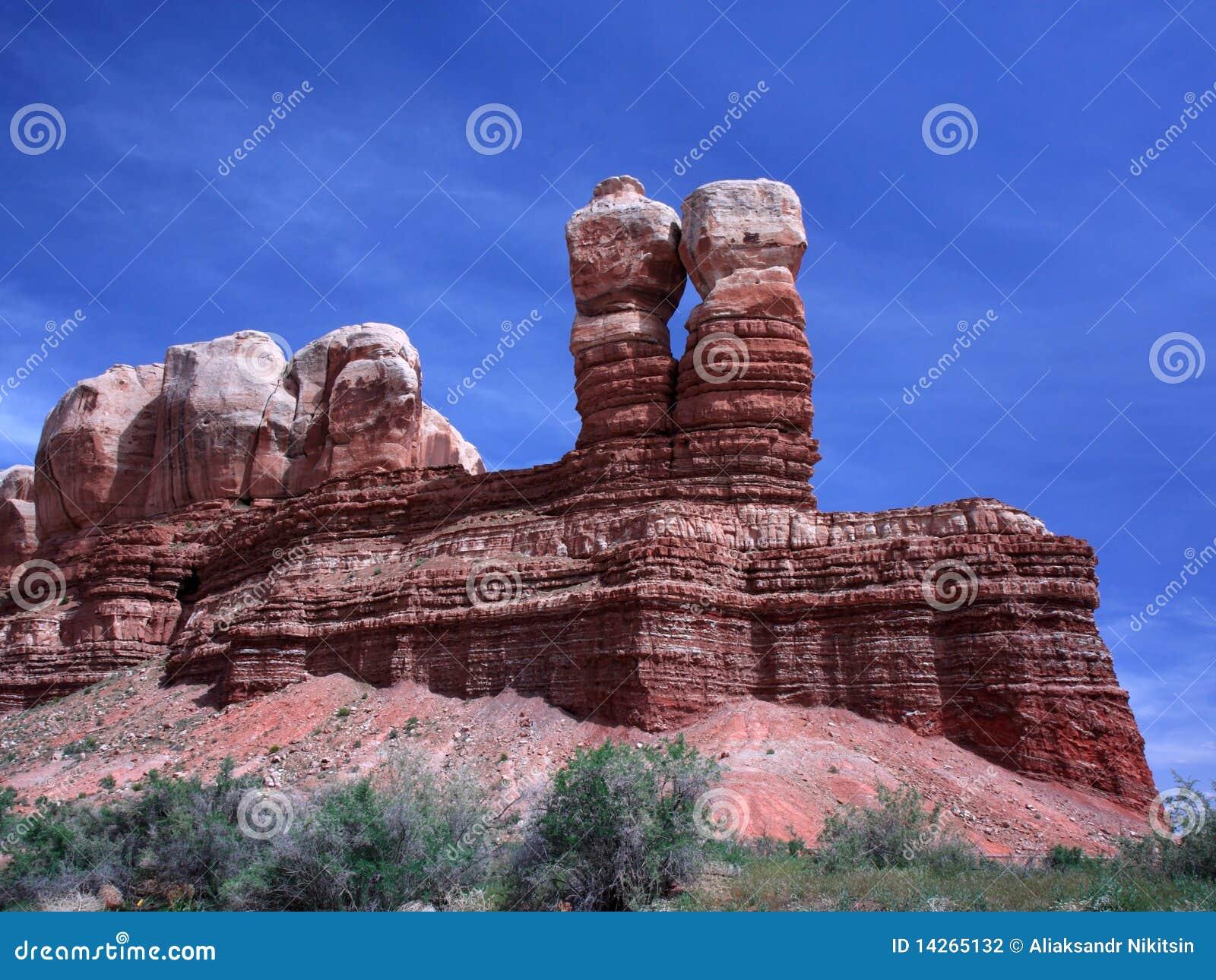 βράχοι δίδυμο Utah
