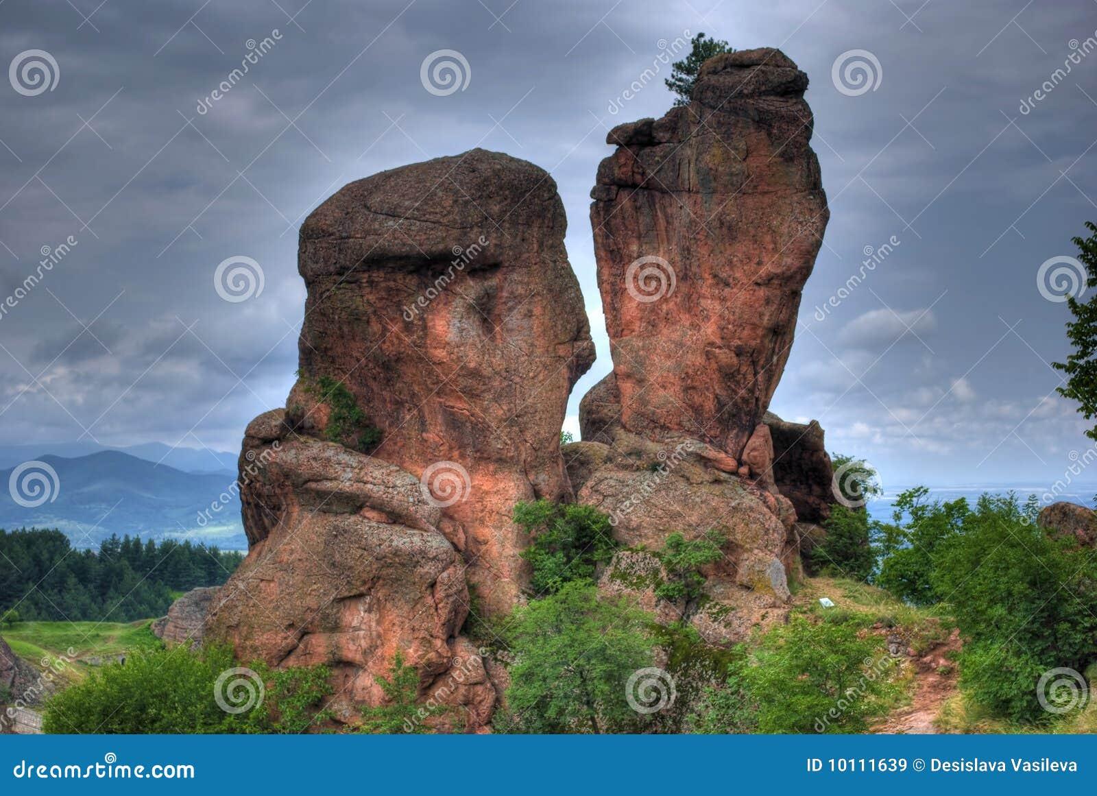 βράχος σχηματισμού hdr