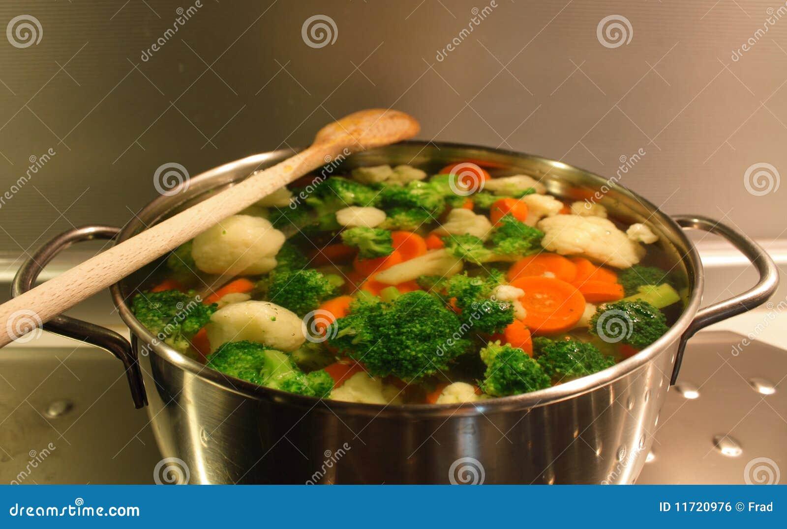 βρασμένα λαχανικά