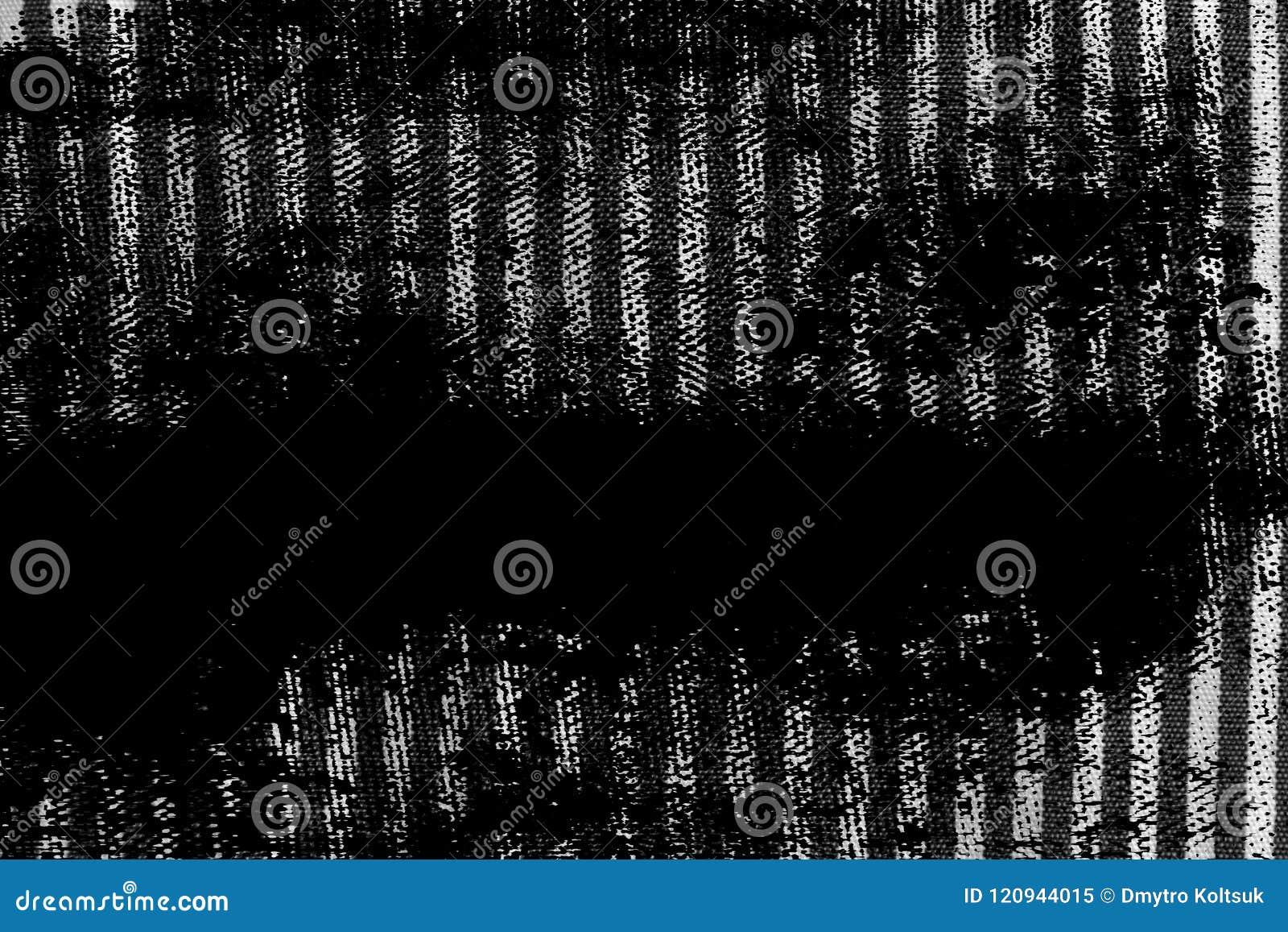 Βρώμικη γραπτή κινηματογράφηση σε πρώτο πλάνο Grunge της γδυμένης σύστασης υφάσματος