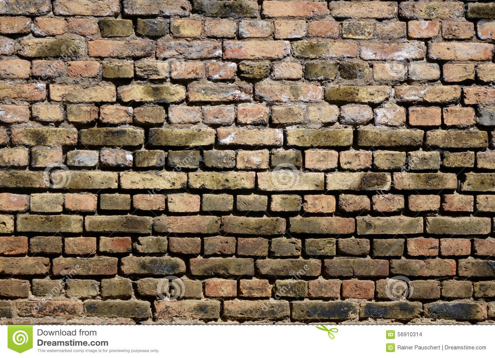 βρώμικος βρώμικος παλαιός τοίχος τούβλου ανασκόπησης