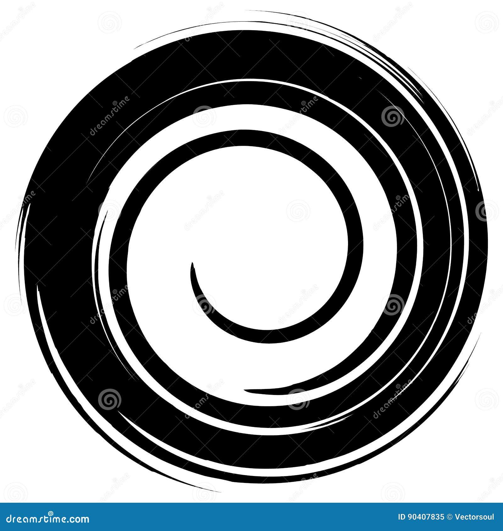 Βρώμικος λερωμένος κύκλος Αφηρημένη σκιαγραφία μορφής παφλασμών