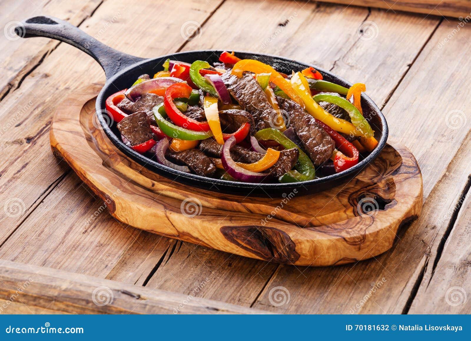 Βόειο κρέας Fajitas
