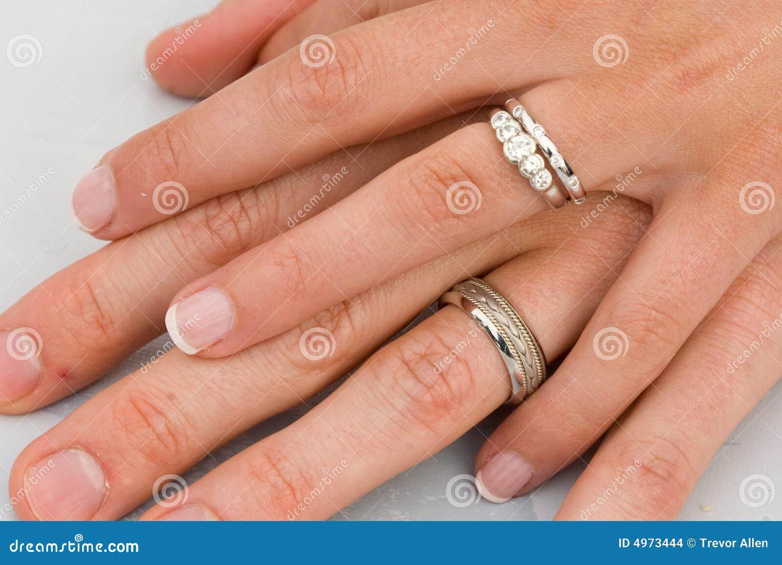γάμος δαχτυλιδιών χεριών