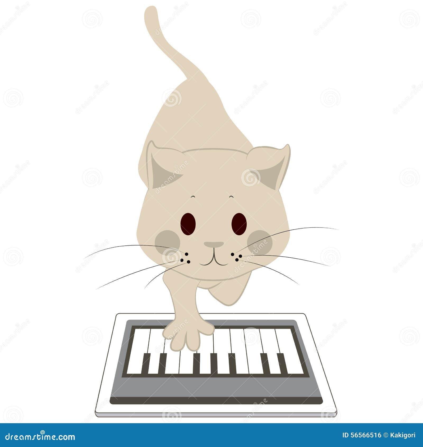 Download Γάτα σχετικά με την ταμπλέτα οθόνης Διανυσματική απεικόνιση - εικονογραφία από υπολογιστής, οθόνη: 56566516