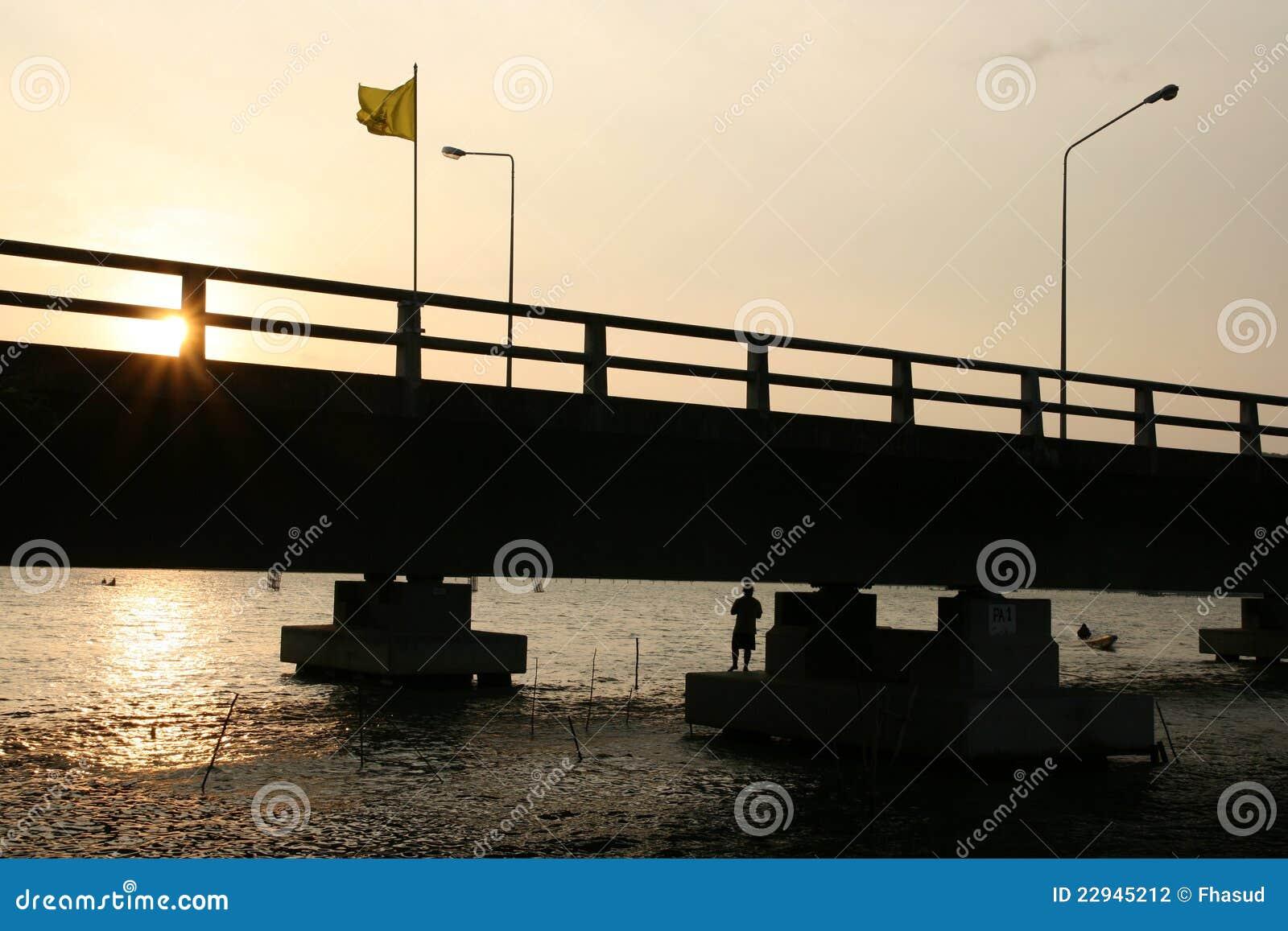 γέφυρα που αλιεύει κάτω
