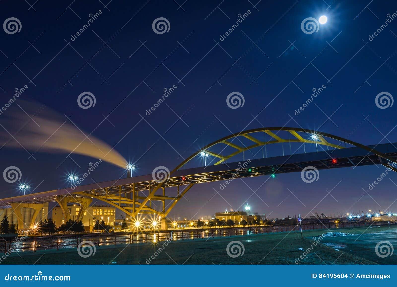Γέφυρα στη λίμνη Μίτσιγκαν στο Μιλγουώκι, Ουισκόνσιν