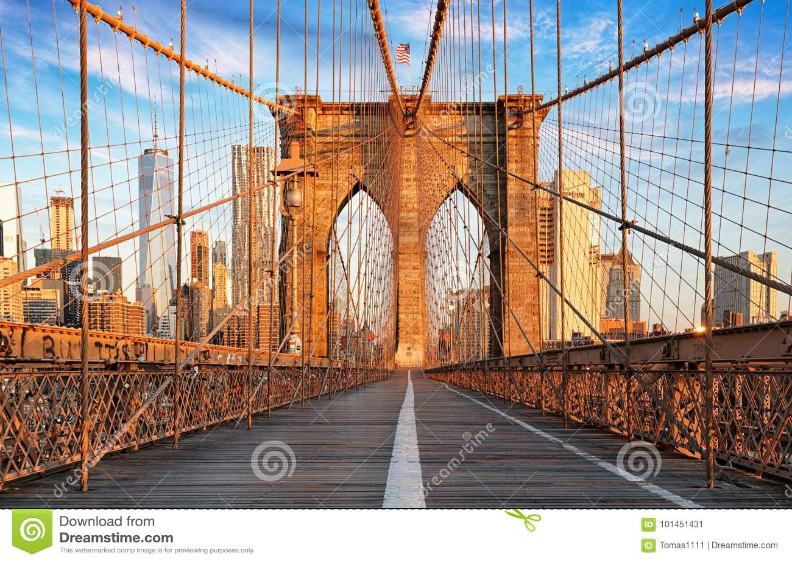 Γέφυρα του Μπρούκλιν, πόλη της Νέας Υόρκης, καμία