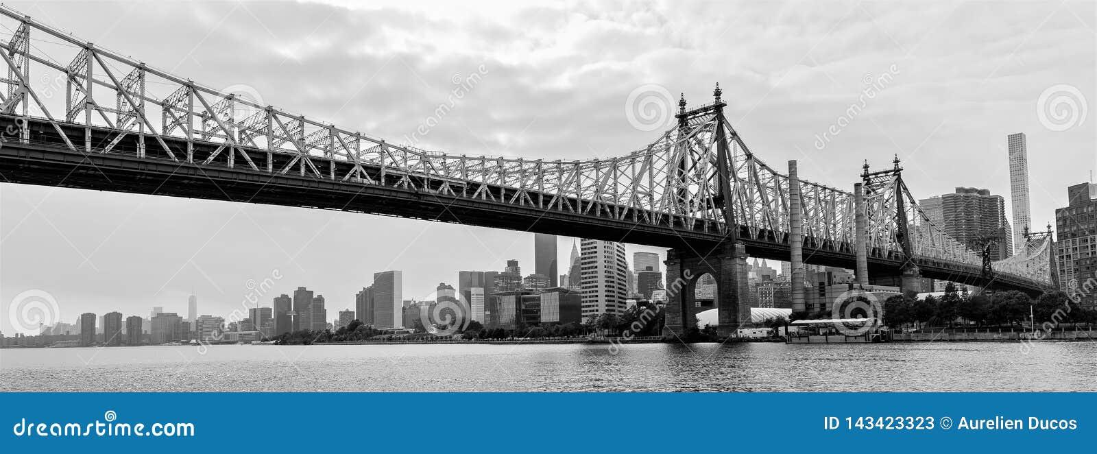 Γέφυρα των ΕΔ Koch Queensboro από τις βασίλισσες, πόλη της Νέας Υόρκης, ΗΠΑ