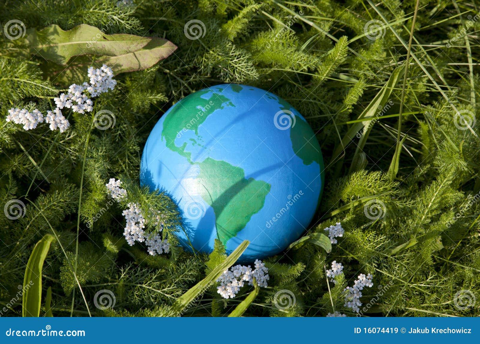 γήινη χλόη πράσινη