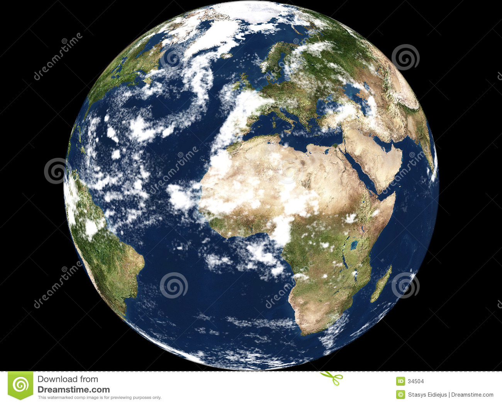 γήινη όψη της Αφρικής