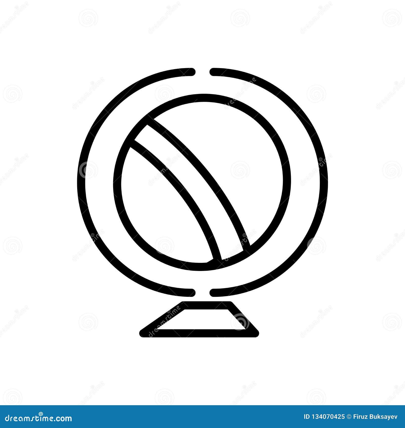 Γήινων σφαιρών σημάδι και σύμβολο εικονιδίων διανυσματικό που απομονώνονται στο άσπρο υπόβαθρο, έννοια λογότυπων γήινων σφαιρών