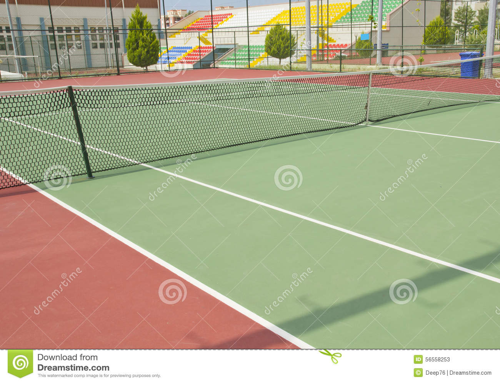 Download Γήπεδο αντισφαίρισης στοκ εικόνα. εικόνα από δικαστήριο - 56558253