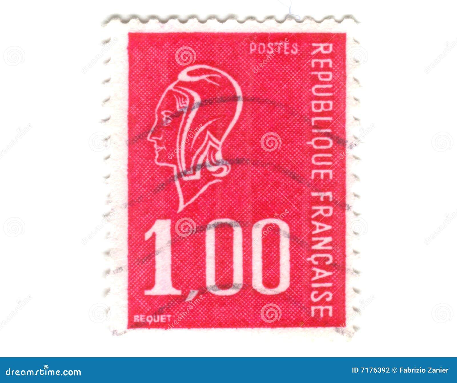 γαλλικό παλαιό κόκκινο γραμματόσημο