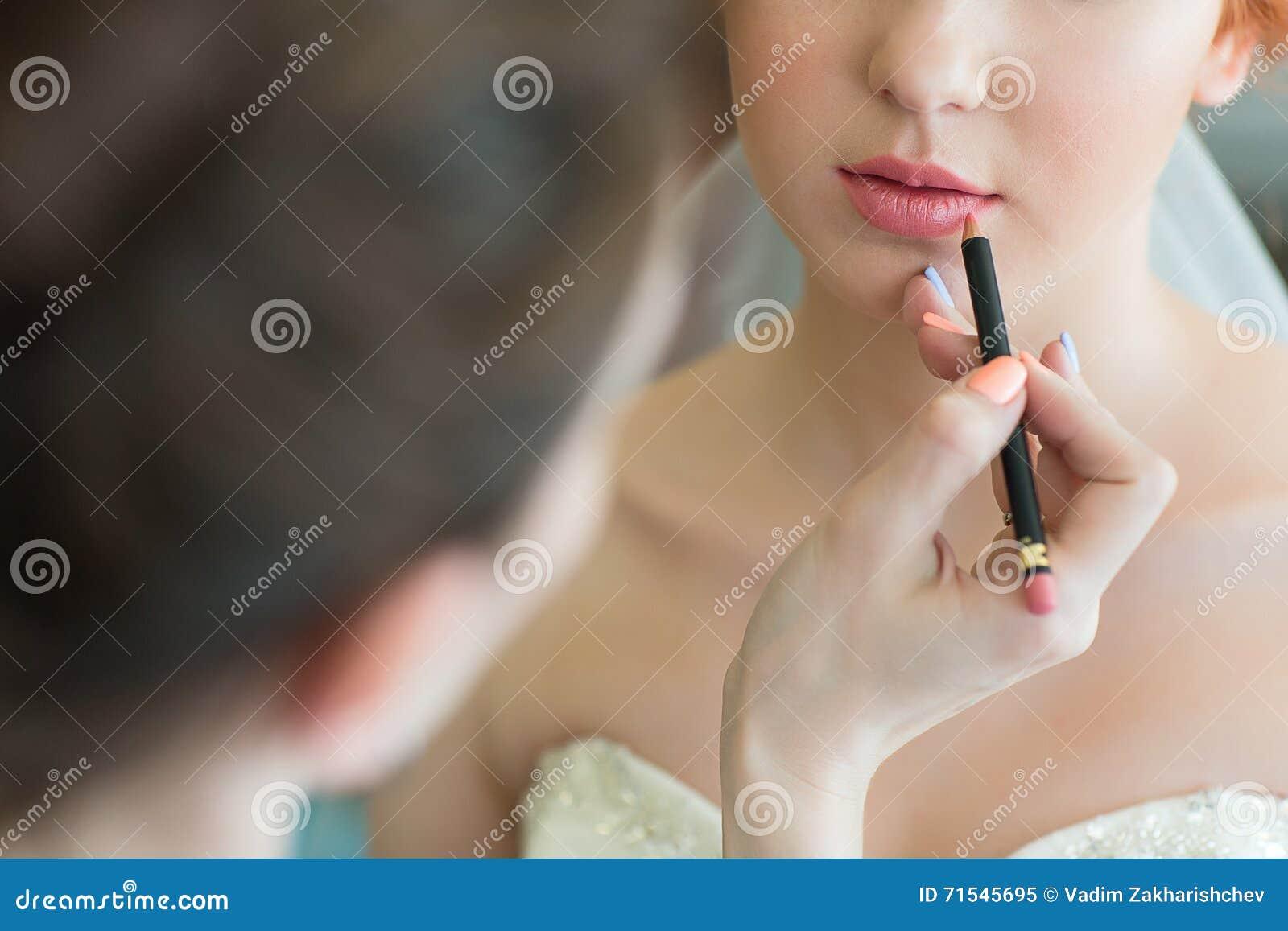 Γαμήλια makeup κινηματογράφηση σε πρώτο πλάνο