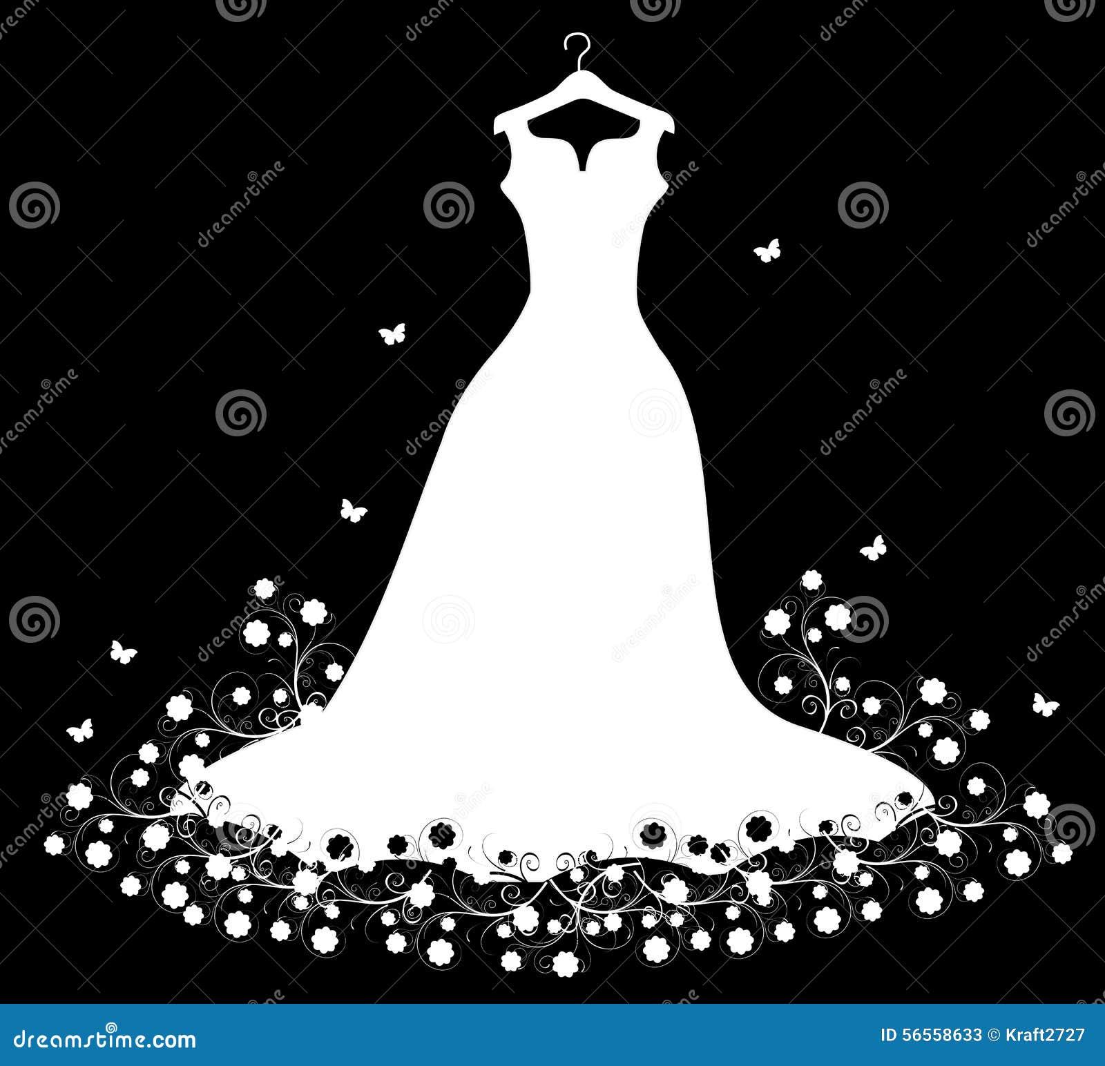 Download γαμήλιο λευκό κρεμαστρώ&n διανυσματική απεικόνιση. εικονογραφία από διακοπές - 56558633