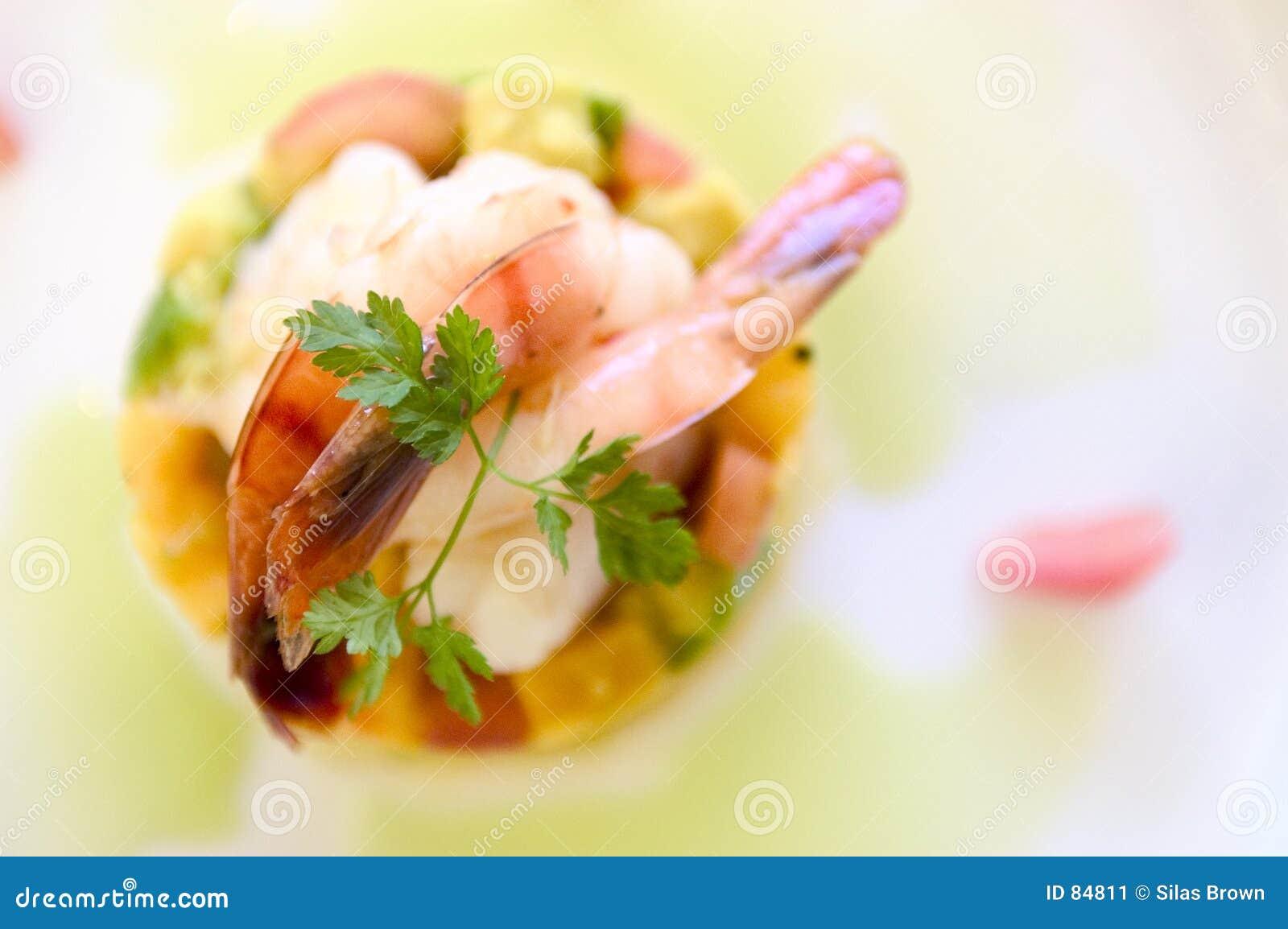 γαρίδα τροφίμων πιάτων