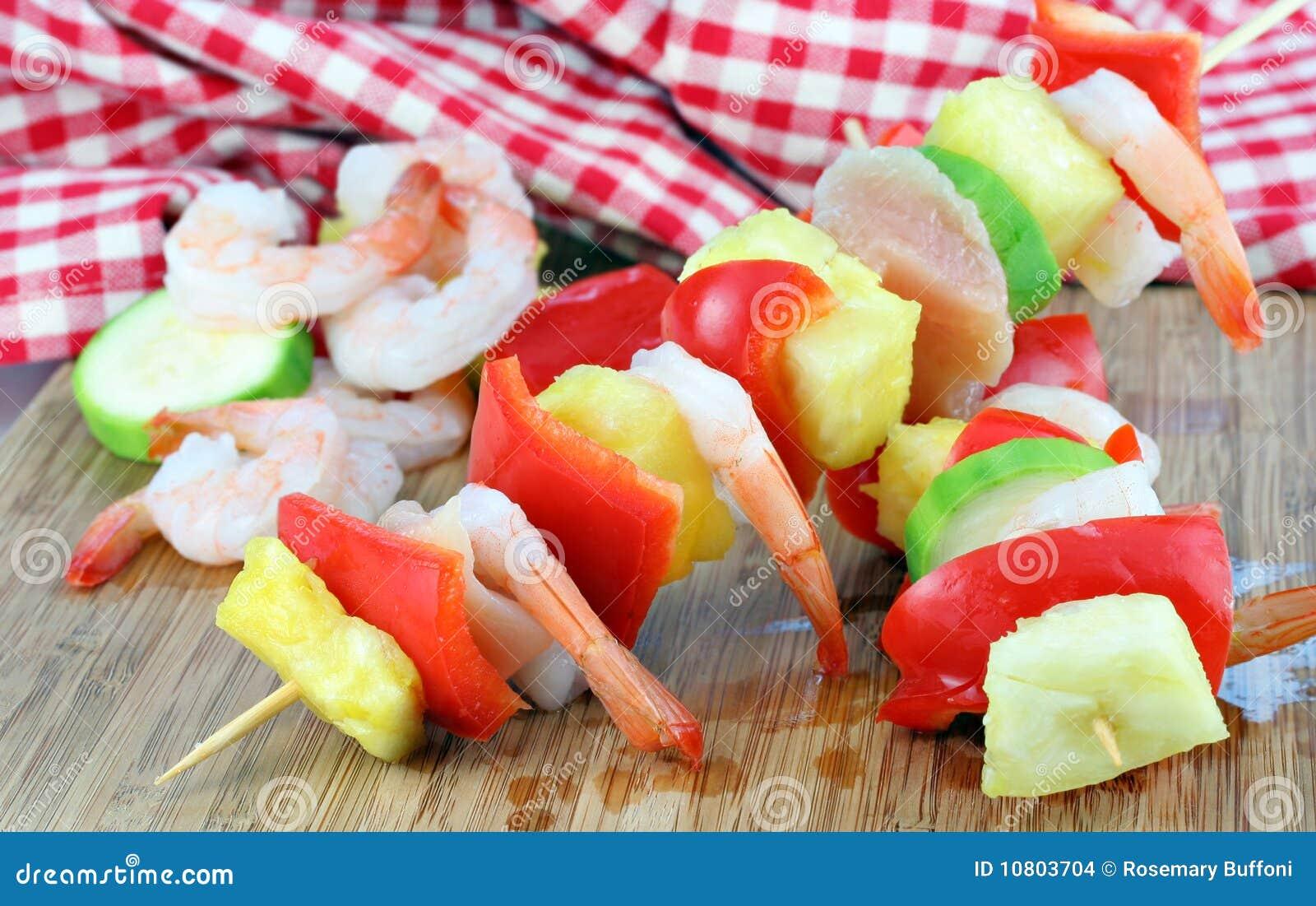 γαρίδες ανανά κοτόπουλο