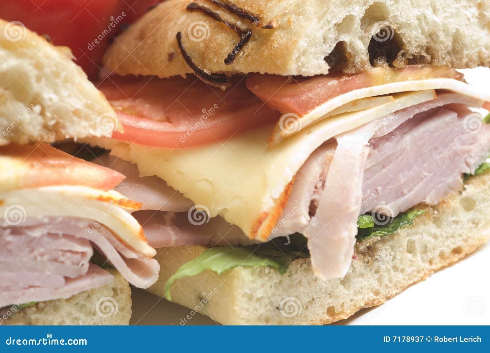 γαστρονομικό σάντουιτς ζαμπόν