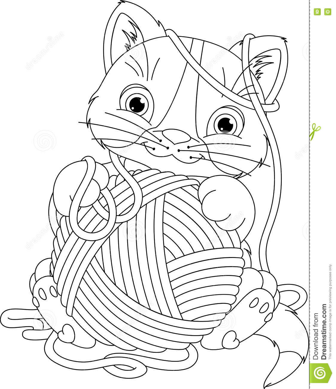 yarn coloring pages - 716×900