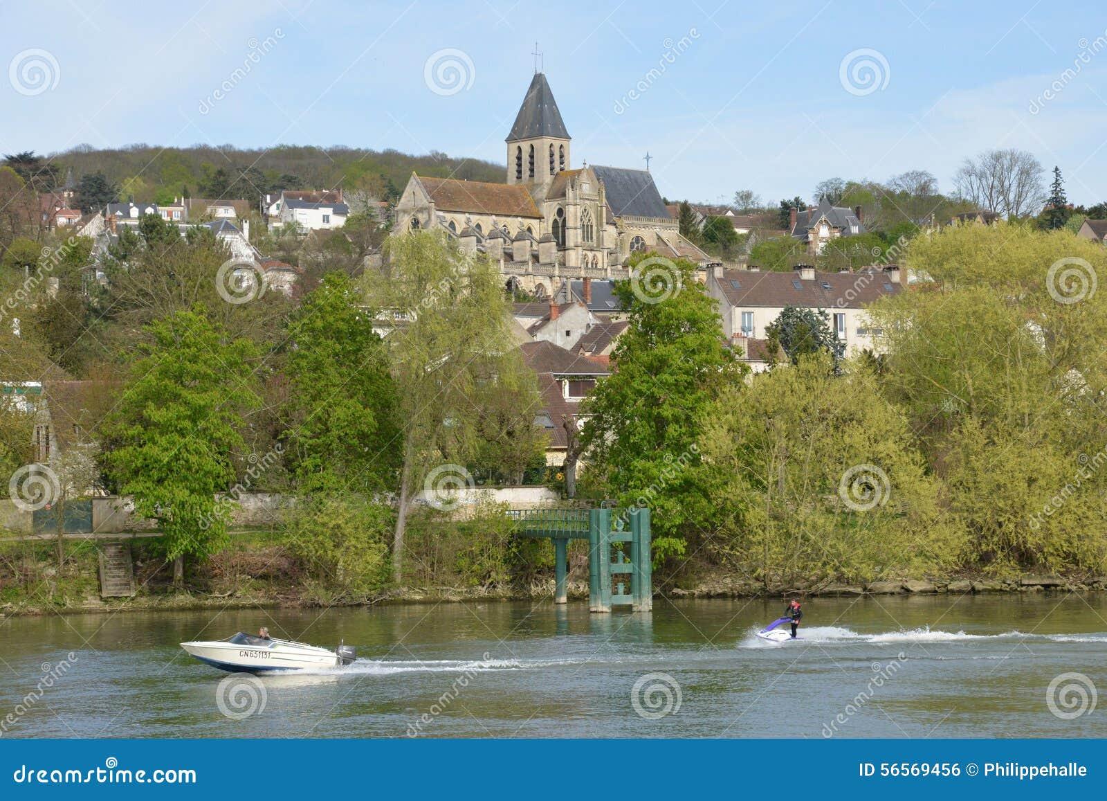 Download Γαλλία, η γραφική πόλη του Triel-sur-Seine Εκδοτική Εικόνες - εικόνα από έξω, ευρώπη: 56569456