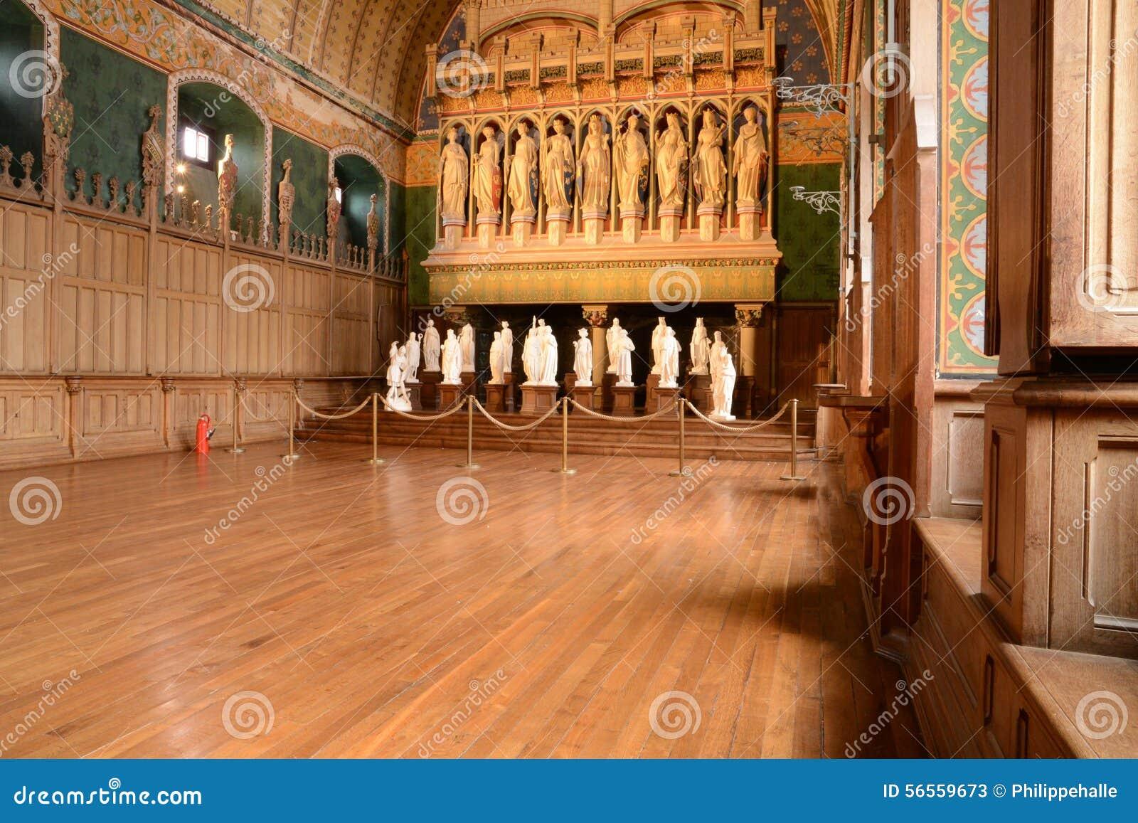Download Γαλλία, ιστορικό κάστρο Pierrefonds σε Picardie Στοκ Εικόνα - εικόνα από παλαιός, δωμάτιο: 56559673