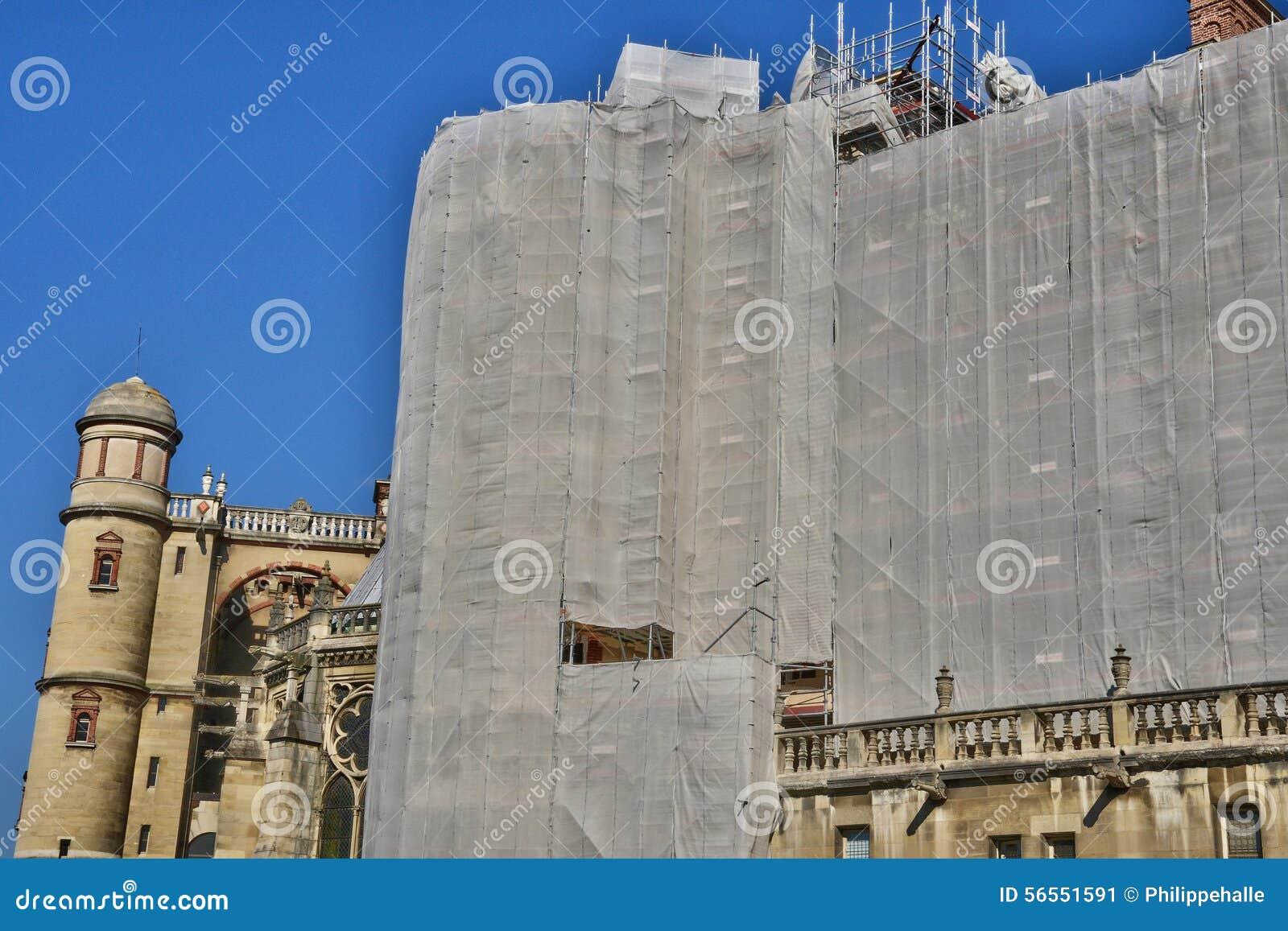 Download Γαλλία, το γραφικό κάστρο Αγίου Ζερμαίν EN Laye Εκδοτική Εικόνες - εικόνα από ζερμαίν, αποκατάσταση: 56551591