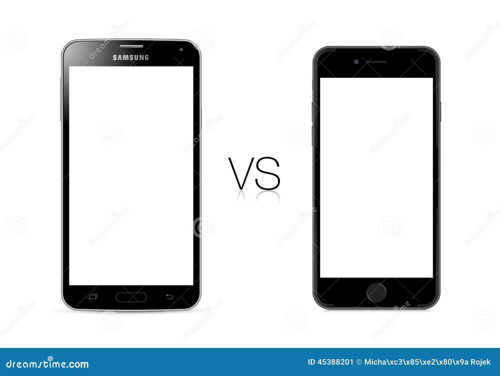 Γαλαξίας της Samsung S5 εναντίον του iPhone 6 της Apple