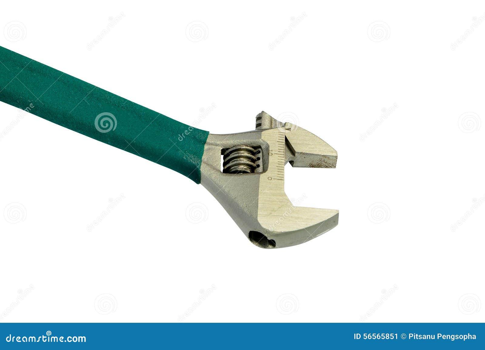 Download Γαλλικό κλειδί πιθήκων στο άσπρο υπόβαθρο Στοκ Εικόνα - εικόνα από βρύση, σύμβολο: 56565851