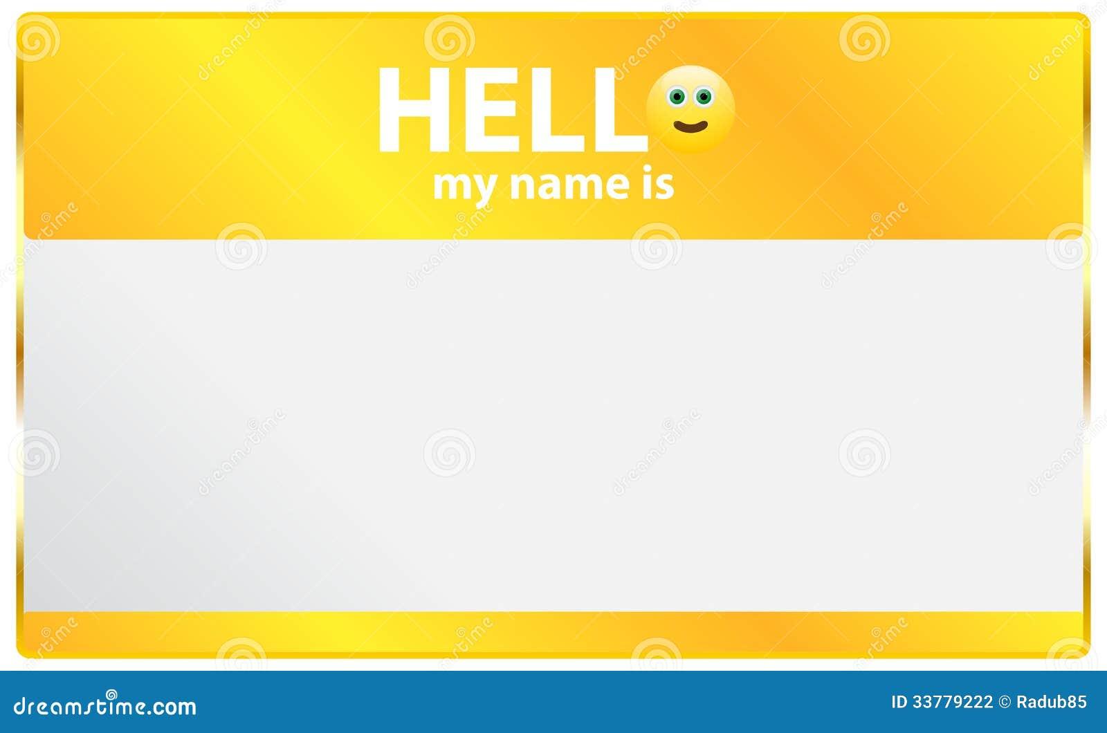 Γειά σου το όνομά μου είναι κάρτα