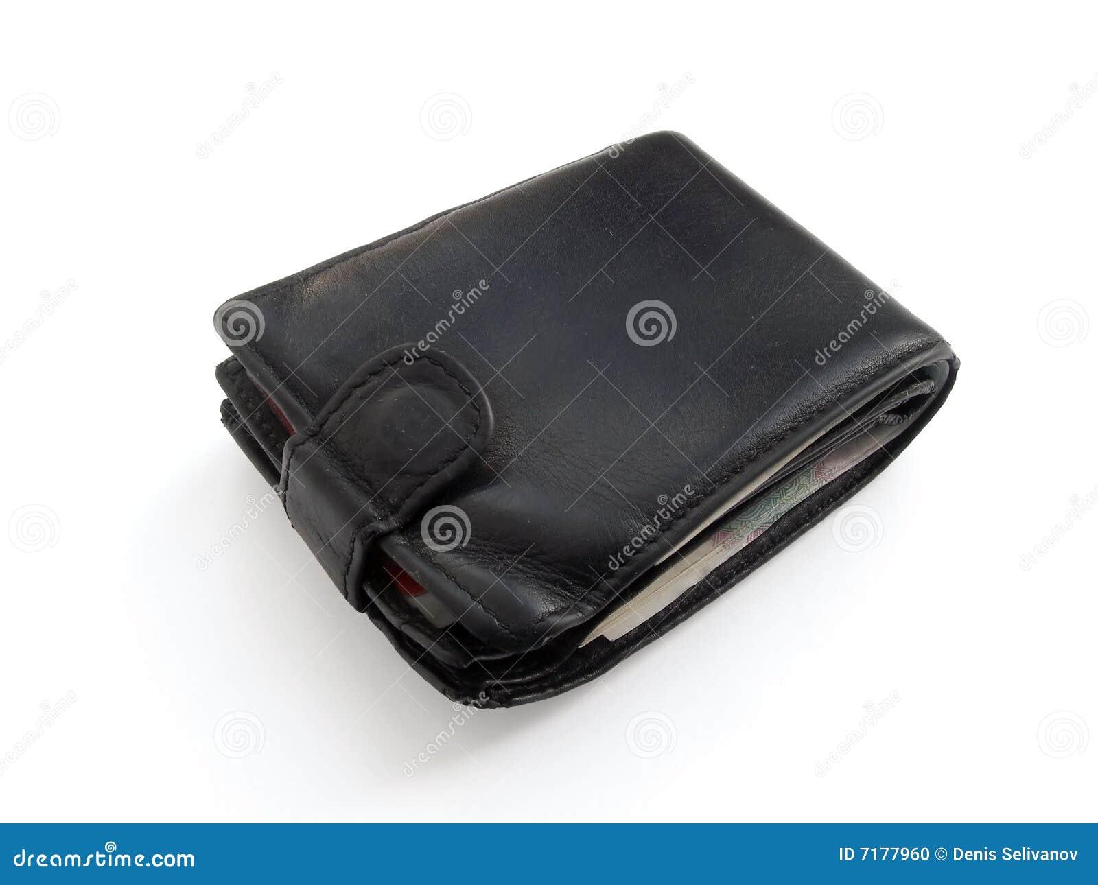 γεμισμένο σφιχτό πορτοφόλι δέρματος