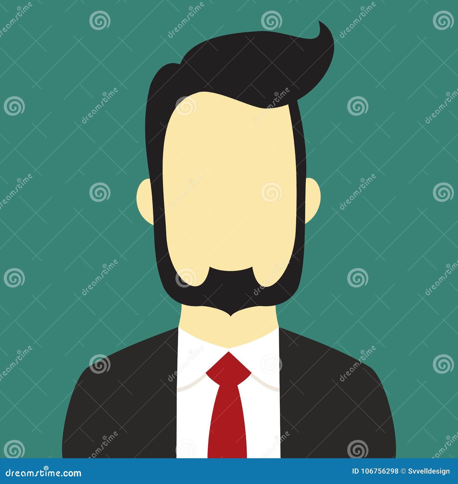 Γενειοφόρο επιχειρηματιών κοστουμιών χρώμα υποβάθρου απεικόνισης ανθρώπων διανυσματικό
